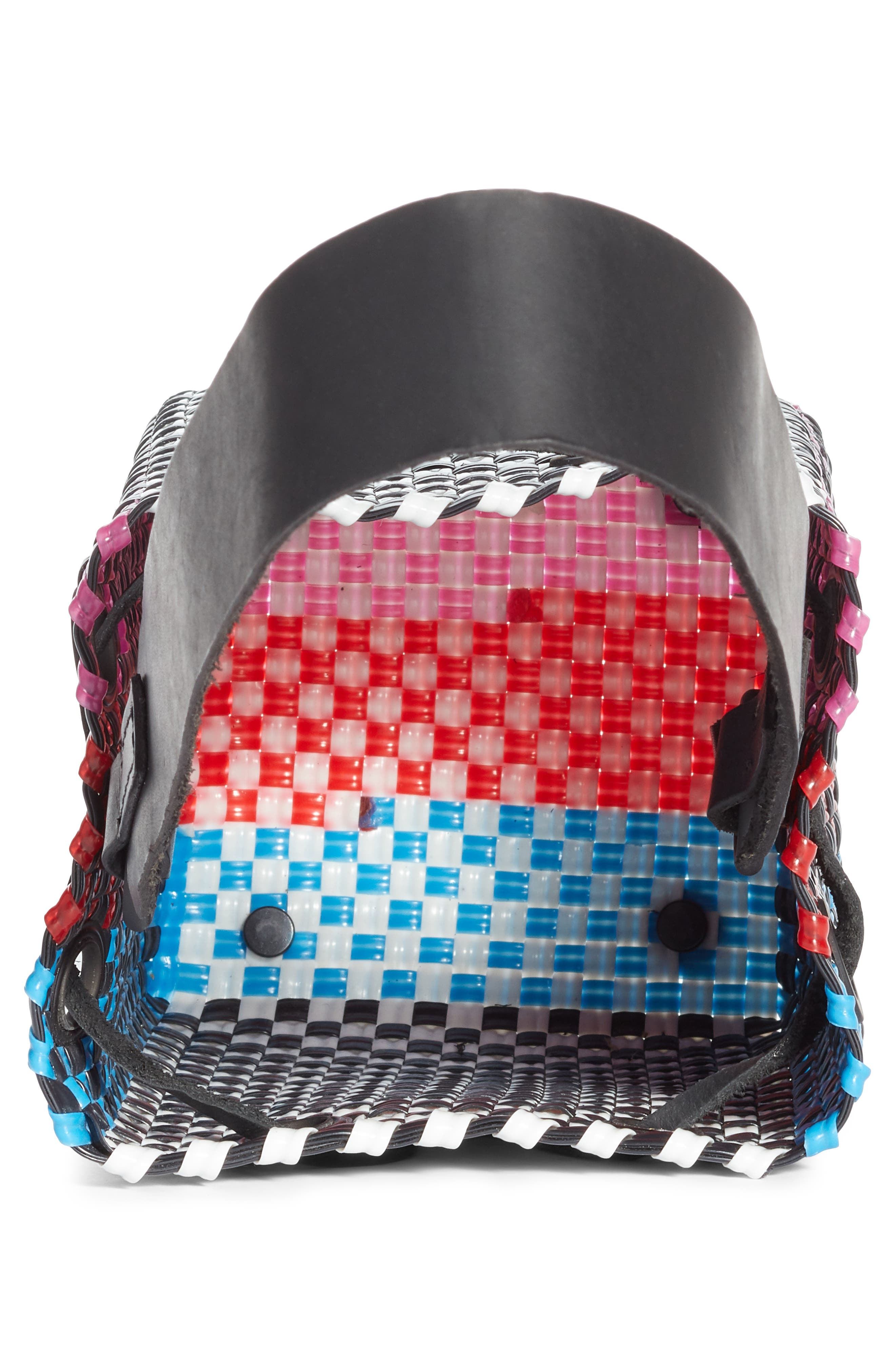 Party Woven Bucket Bag,                             Alternate thumbnail 4, color,                             FUCHSIA/ RED