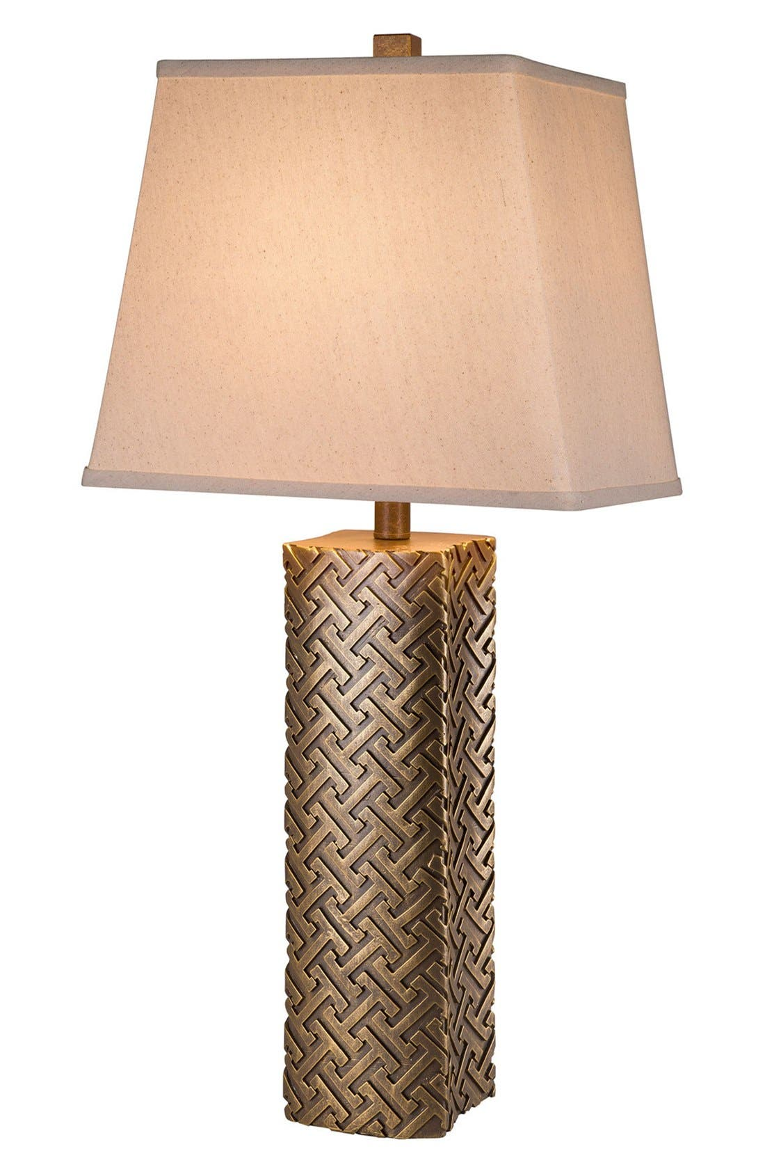 JAlexander Geometric Metallic Table Lamp,                             Main thumbnail 1, color,                             710
