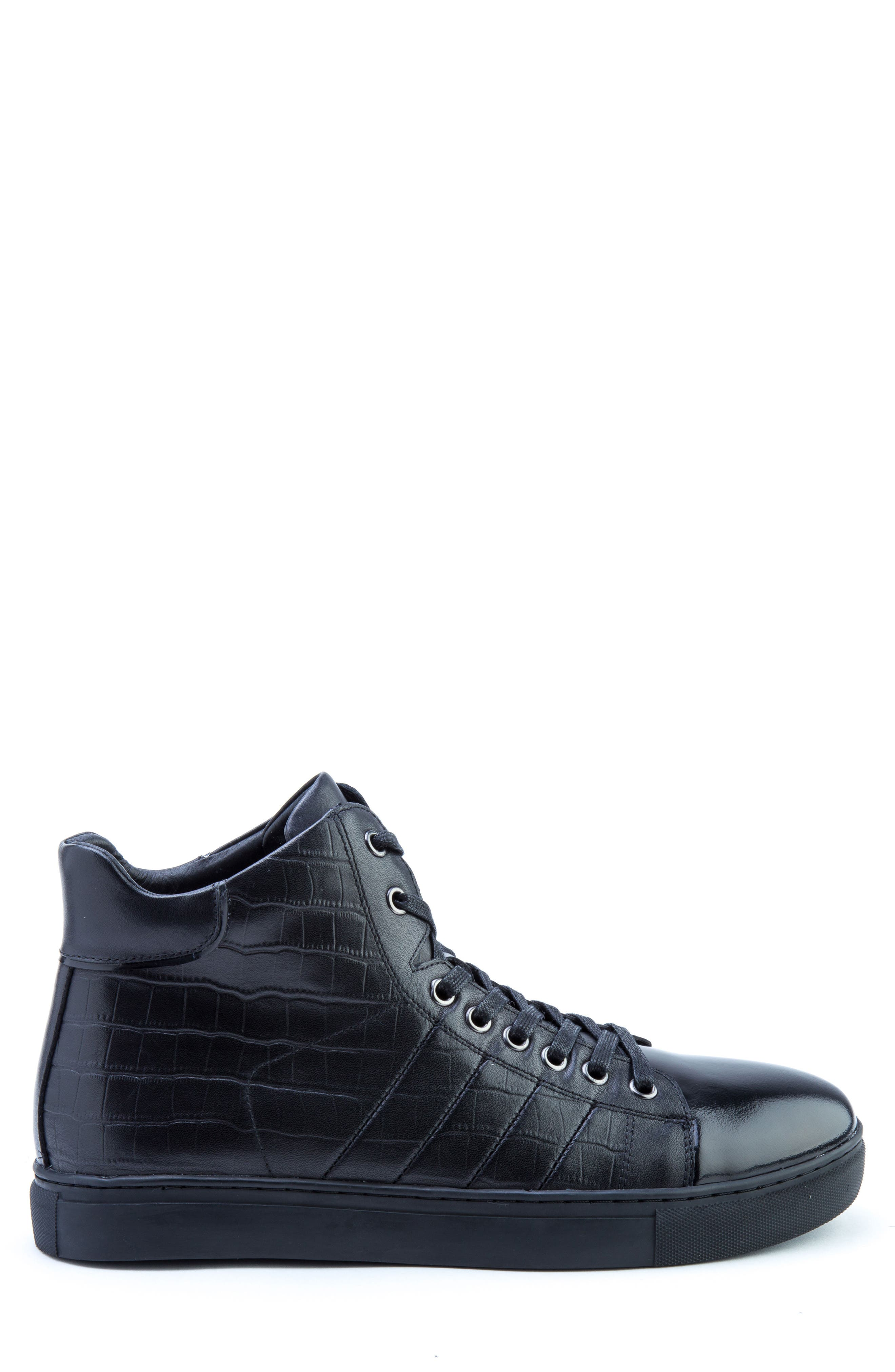 Clift High Top Sneaker,                             Alternate thumbnail 3, color,                             001