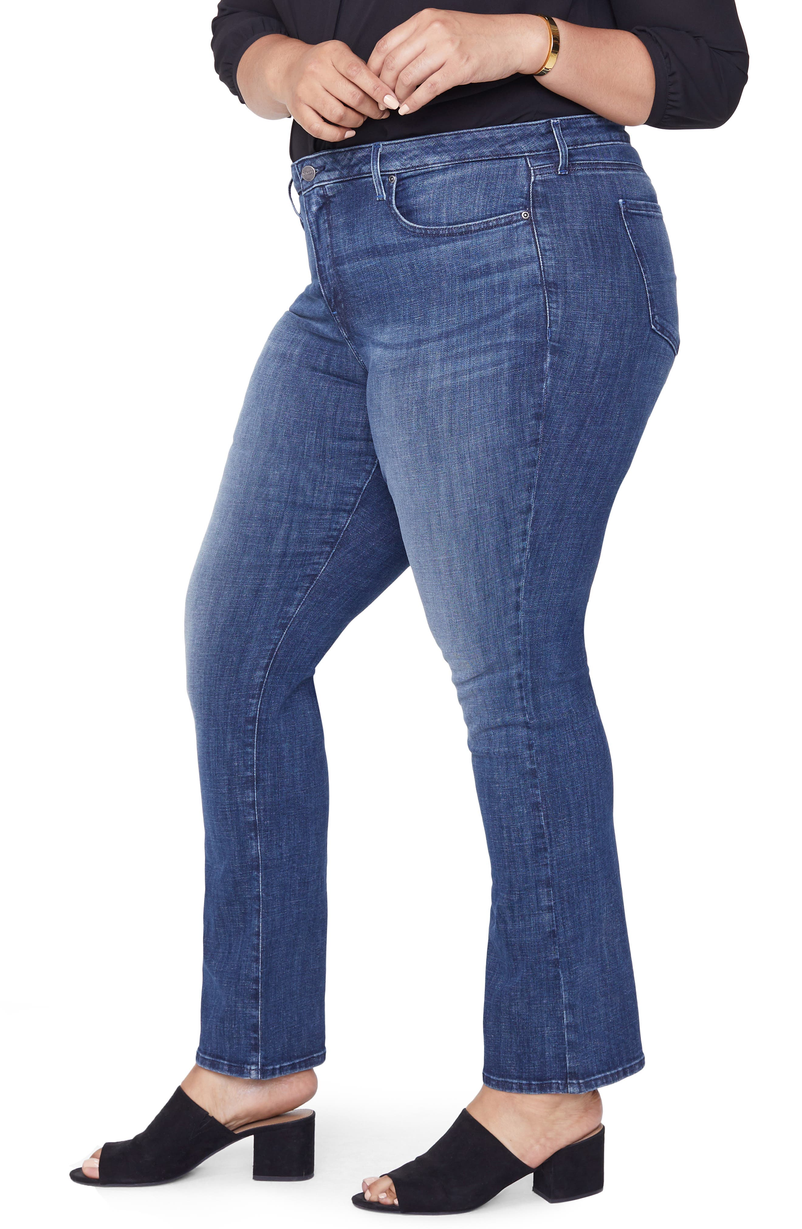 Barbara Bootcut Jeans,                             Alternate thumbnail 3, color,                             LUPINE