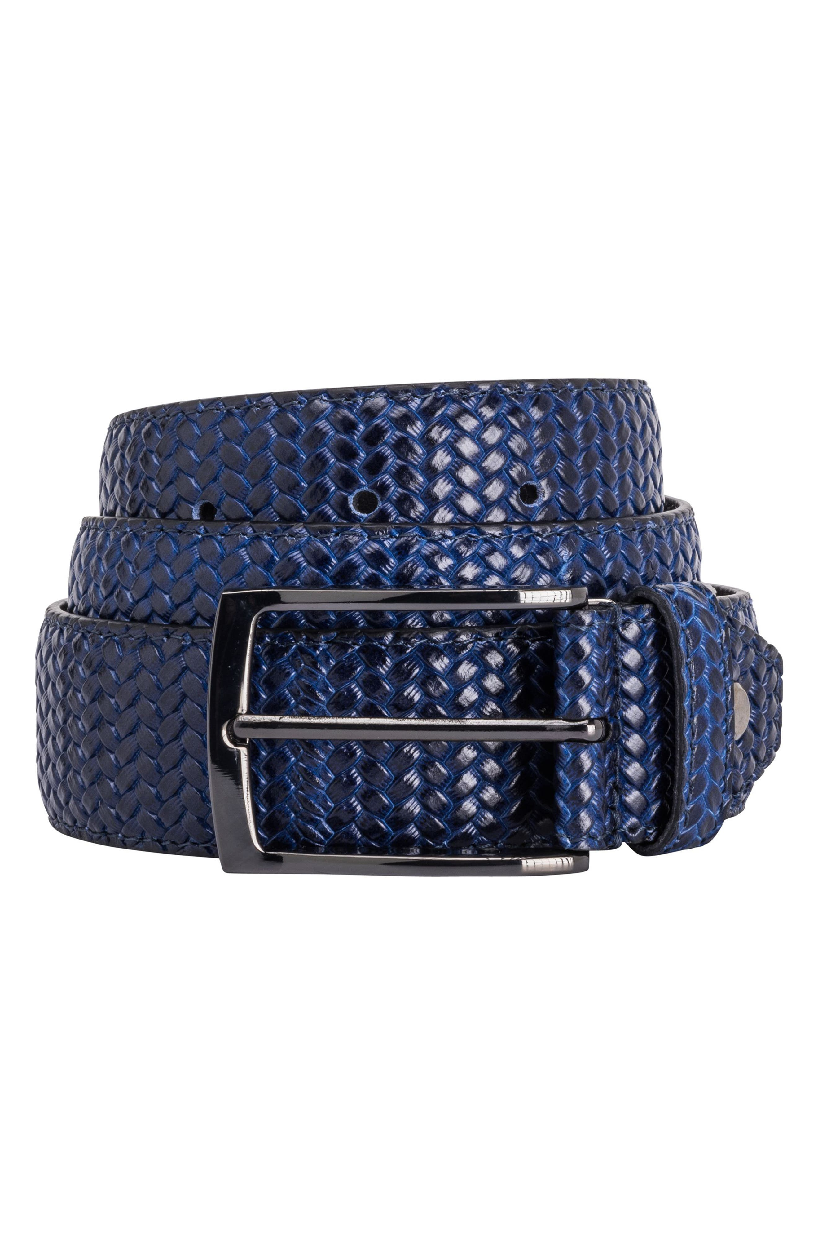 Leather Belt,                         Main,                         color, 411