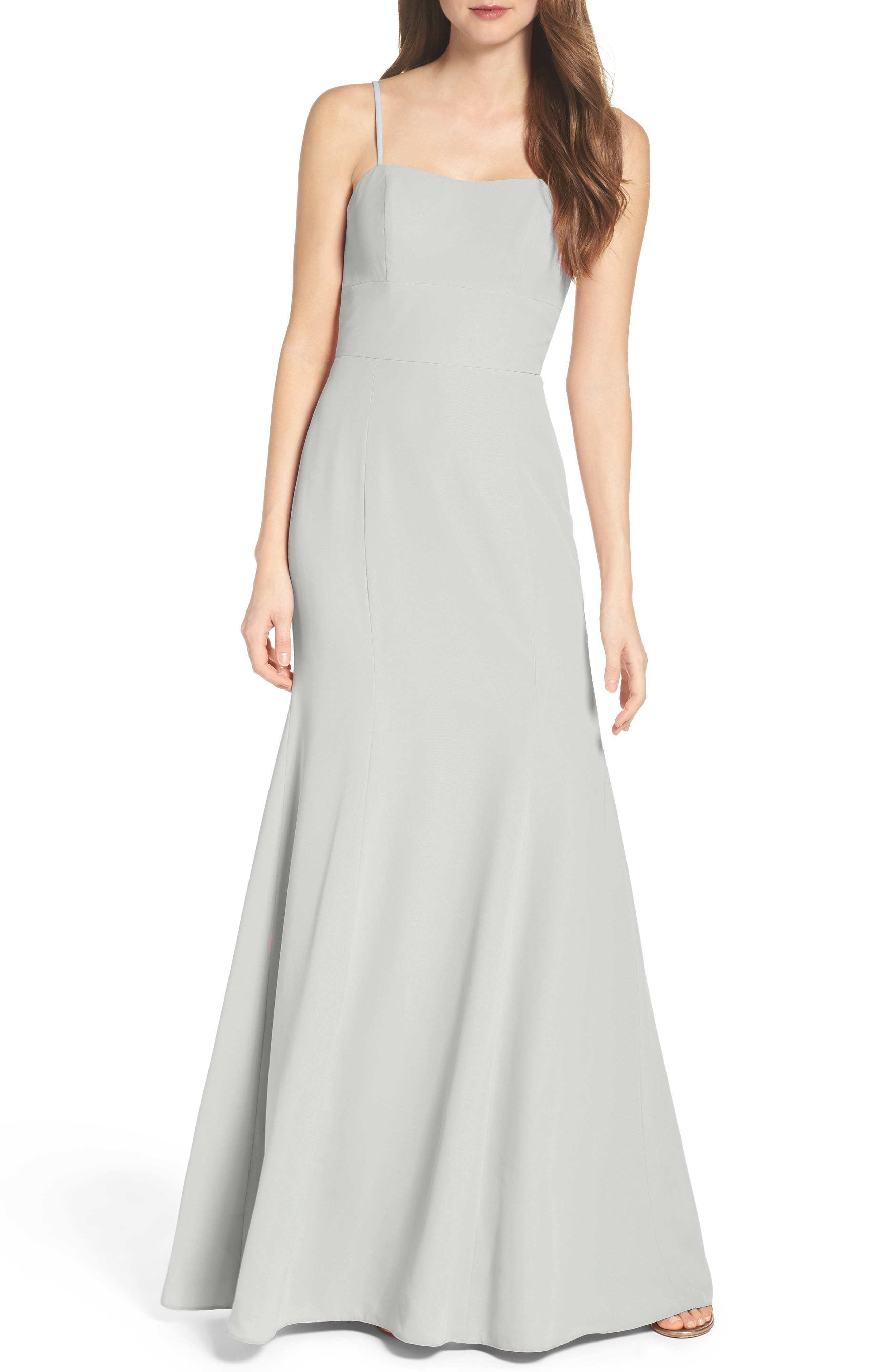 Convertible Strap Chiffon Gown,                             Alternate thumbnail 2, color,                             300