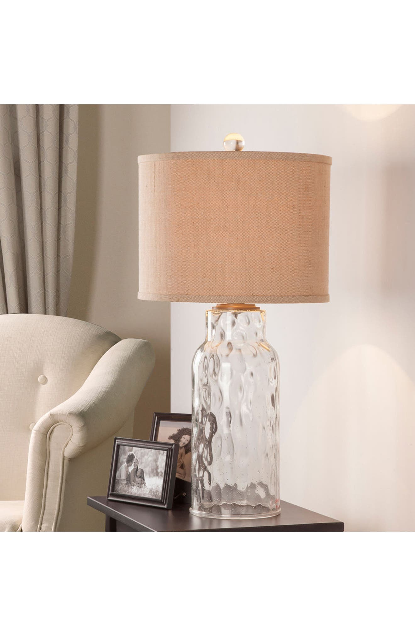 Clear Dimpled Glass Table Lamp,                             Alternate thumbnail 4, color,