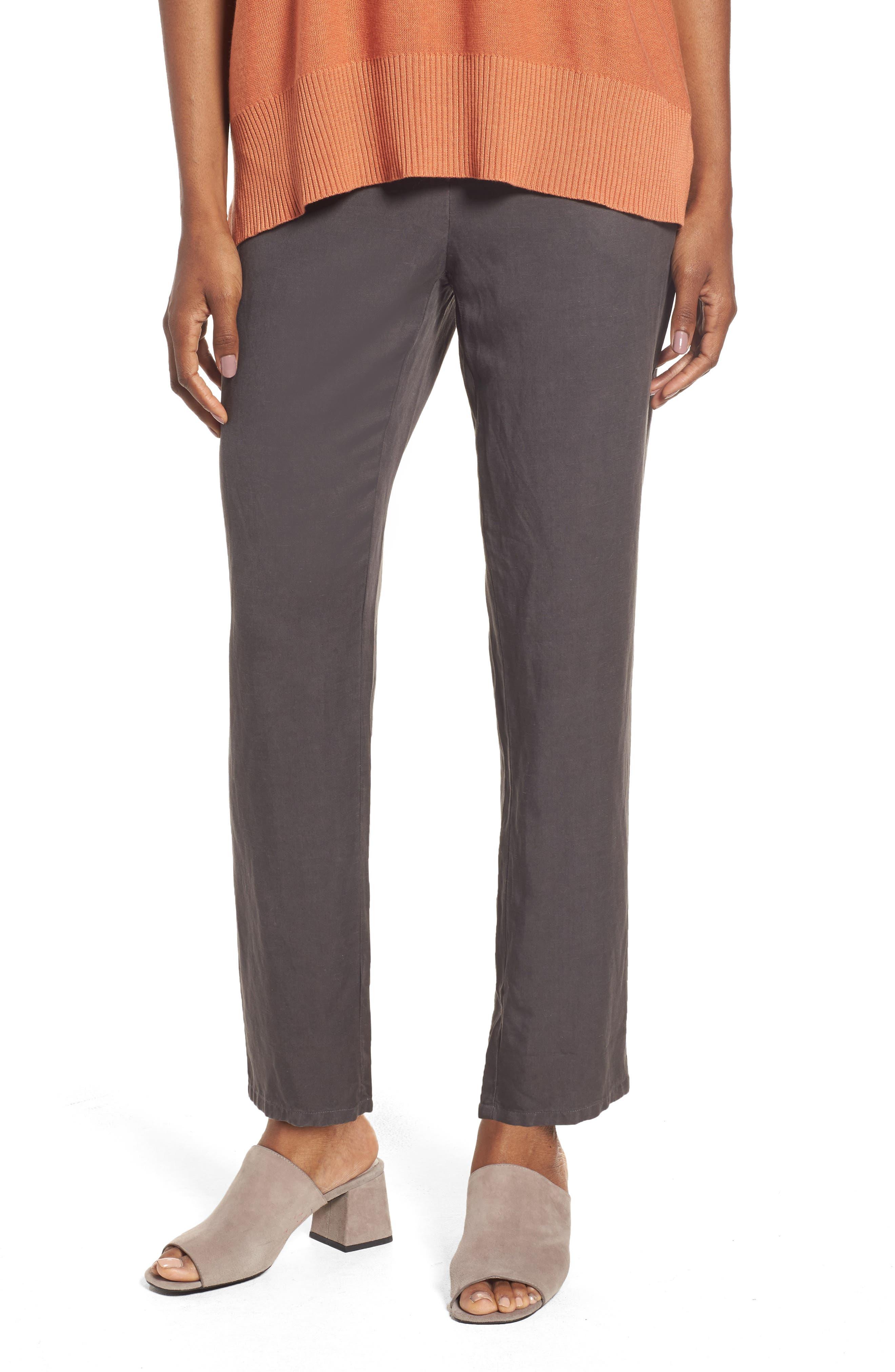Tencel<sup>®</sup> & Linen Ankle Pants,                             Main thumbnail 2, color,