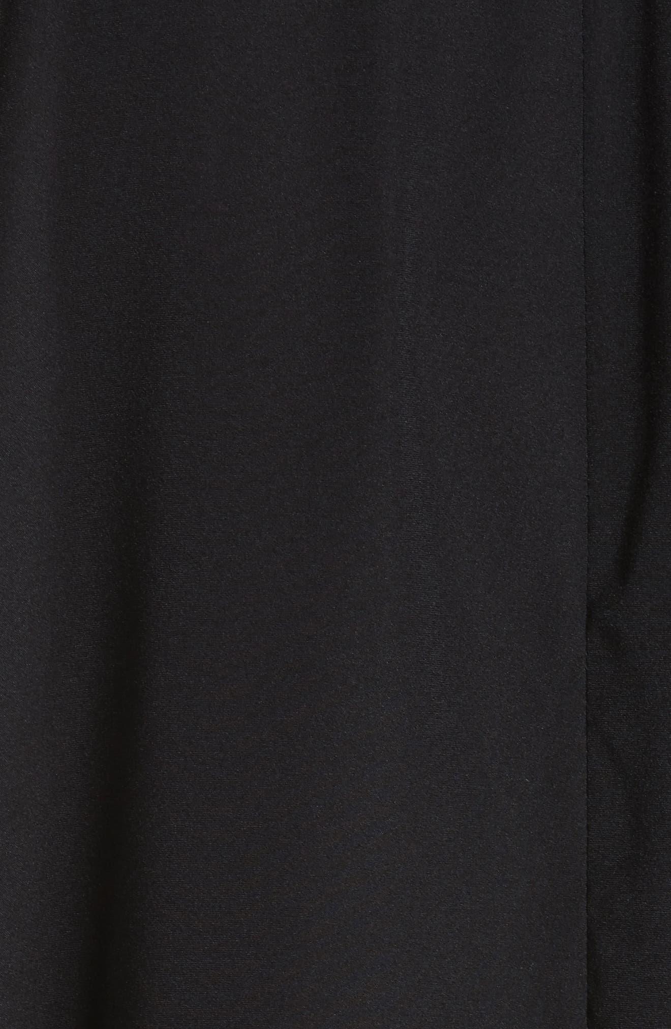 Drape Neck Stretch Silk Blouse,                             Alternate thumbnail 5, color,                             BLACK
