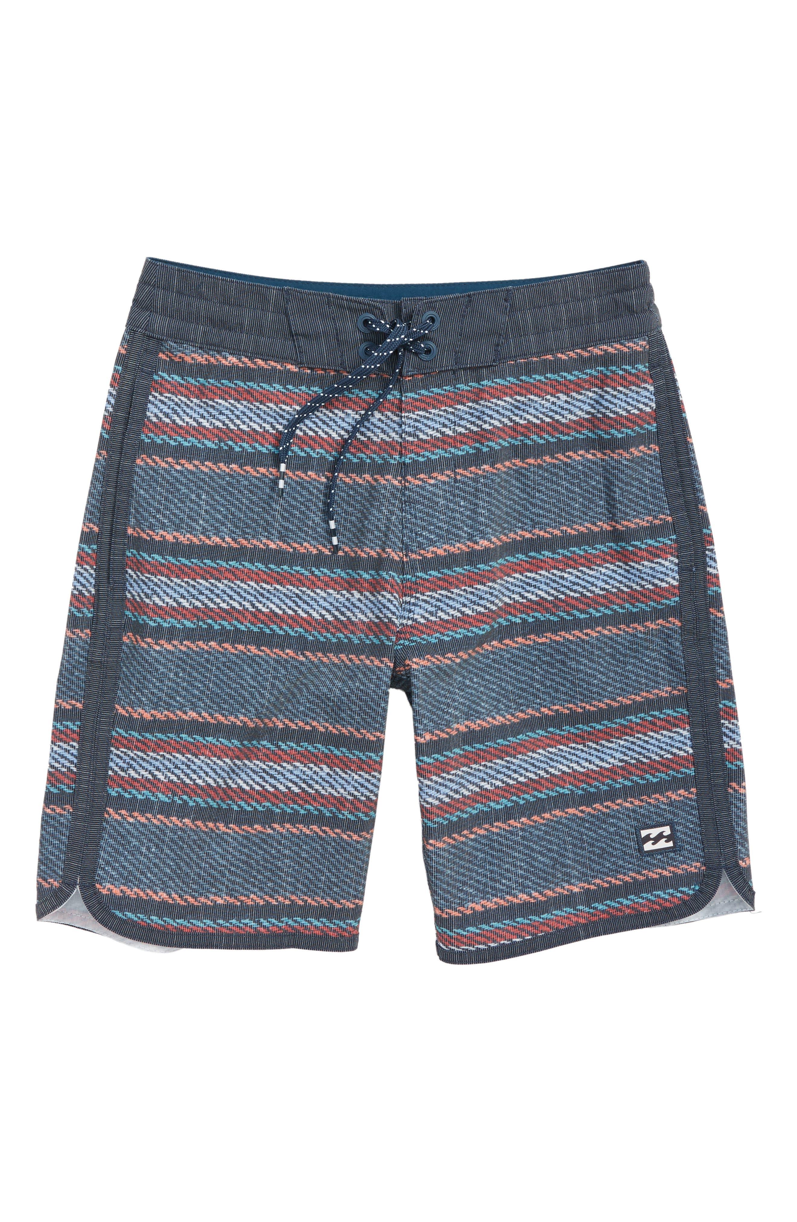 73 LT Lineup Board Shorts,                             Main thumbnail 1, color,                             INDIGO STRIPE