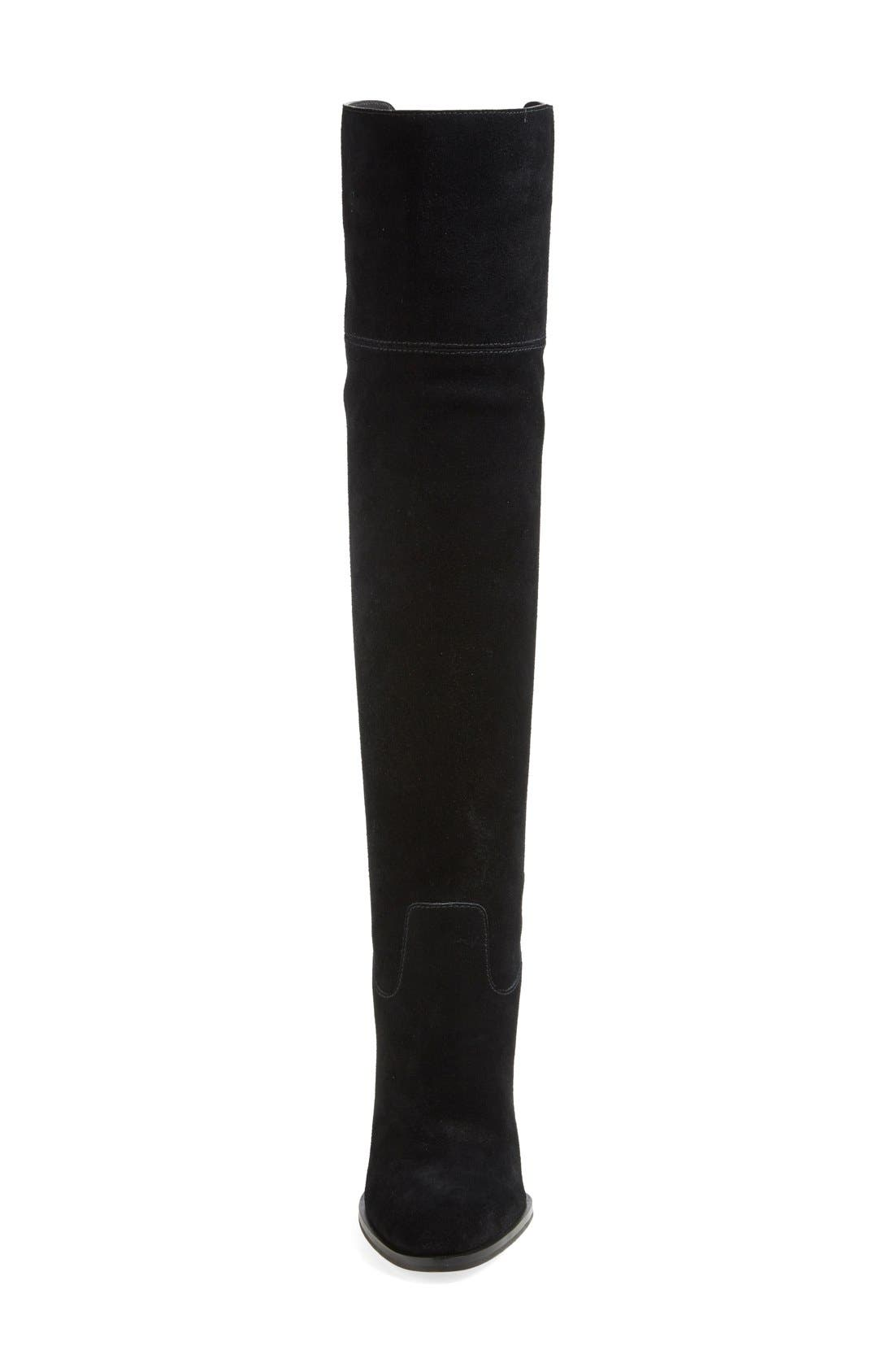 'Regina' Over the Knee Boot,                             Alternate thumbnail 4, color,                             001