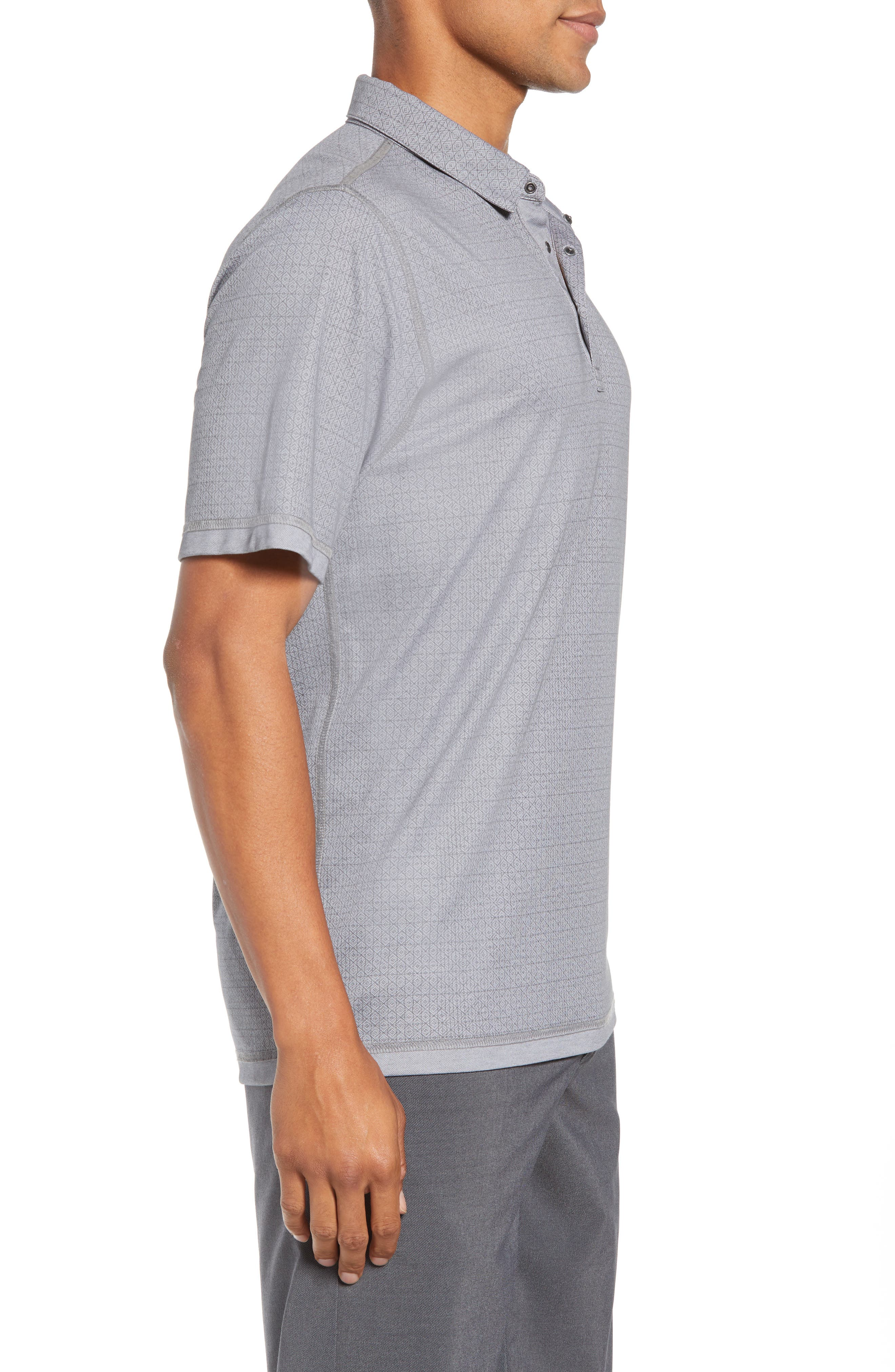 Reverse It Regular Fit Polo,                             Alternate thumbnail 3, color,                             HEATHER QUIET SHADE