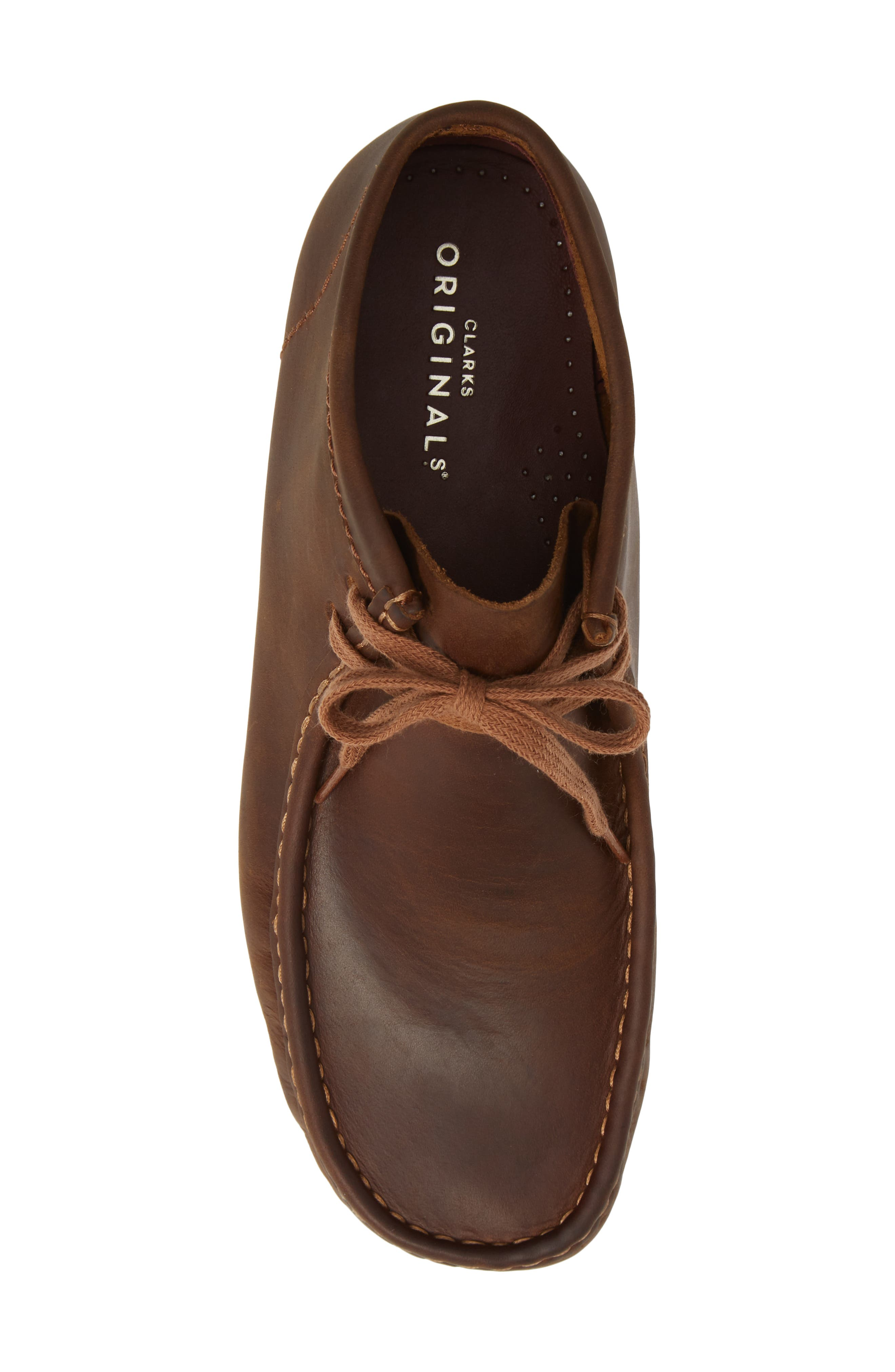 Wallabee Boot,                             Alternate thumbnail 5, color,                             BROWN LEATHER