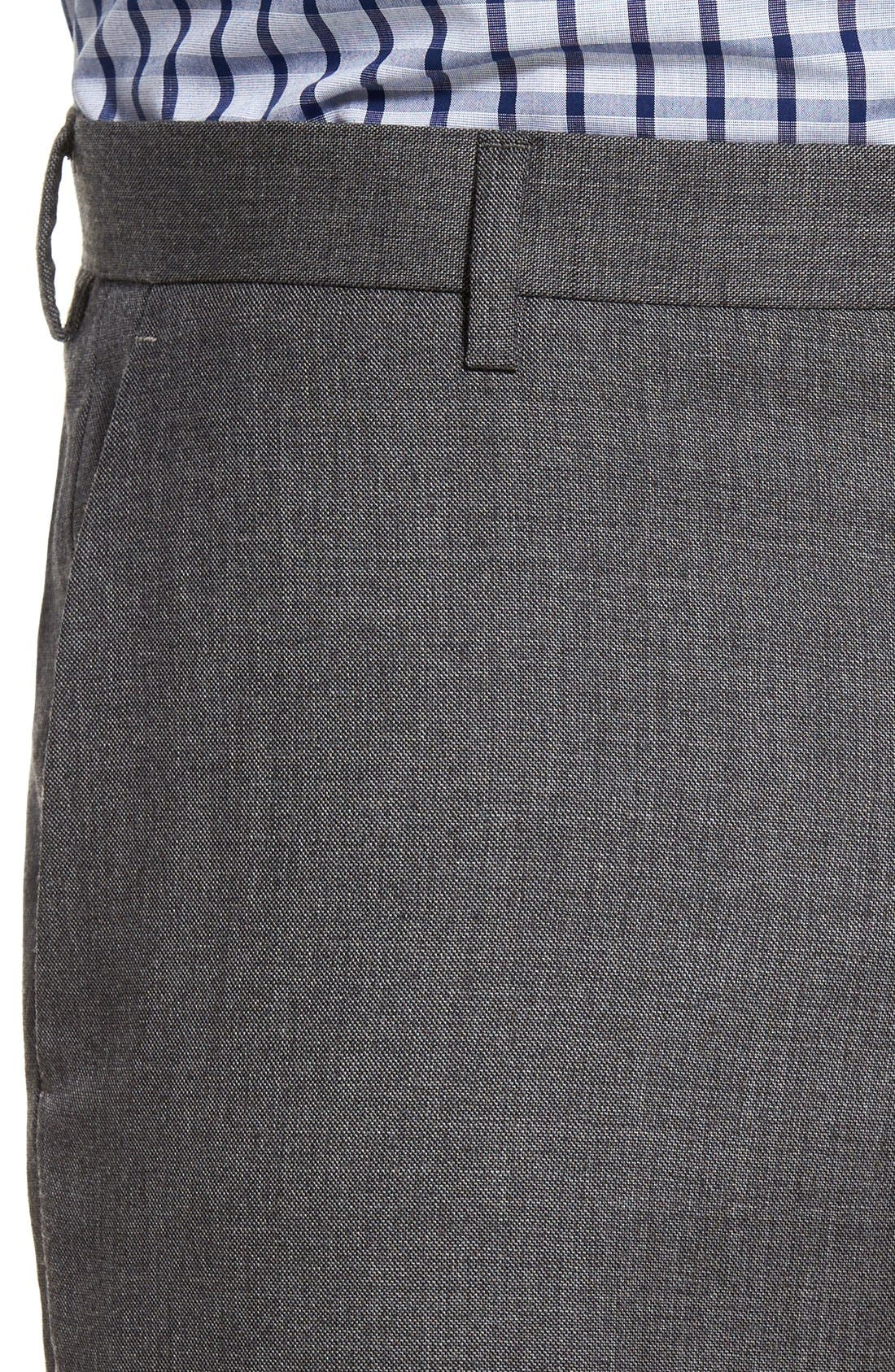 Ludlow Flat Front Solid Wool Trousers,                             Alternate thumbnail 11, color,