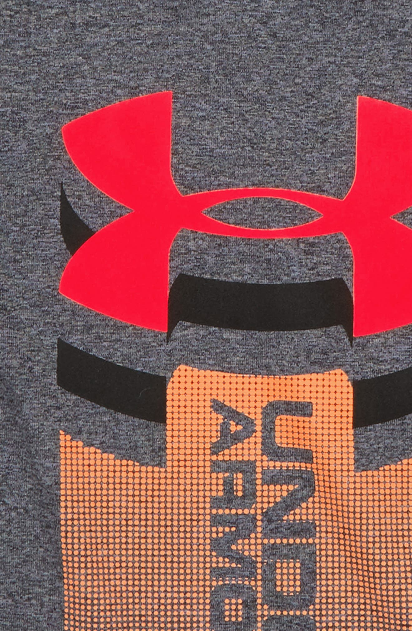 Rising Logo Graphic HeatGear<sup>®</sup> Shirt,                             Alternate thumbnail 2, color,                             020