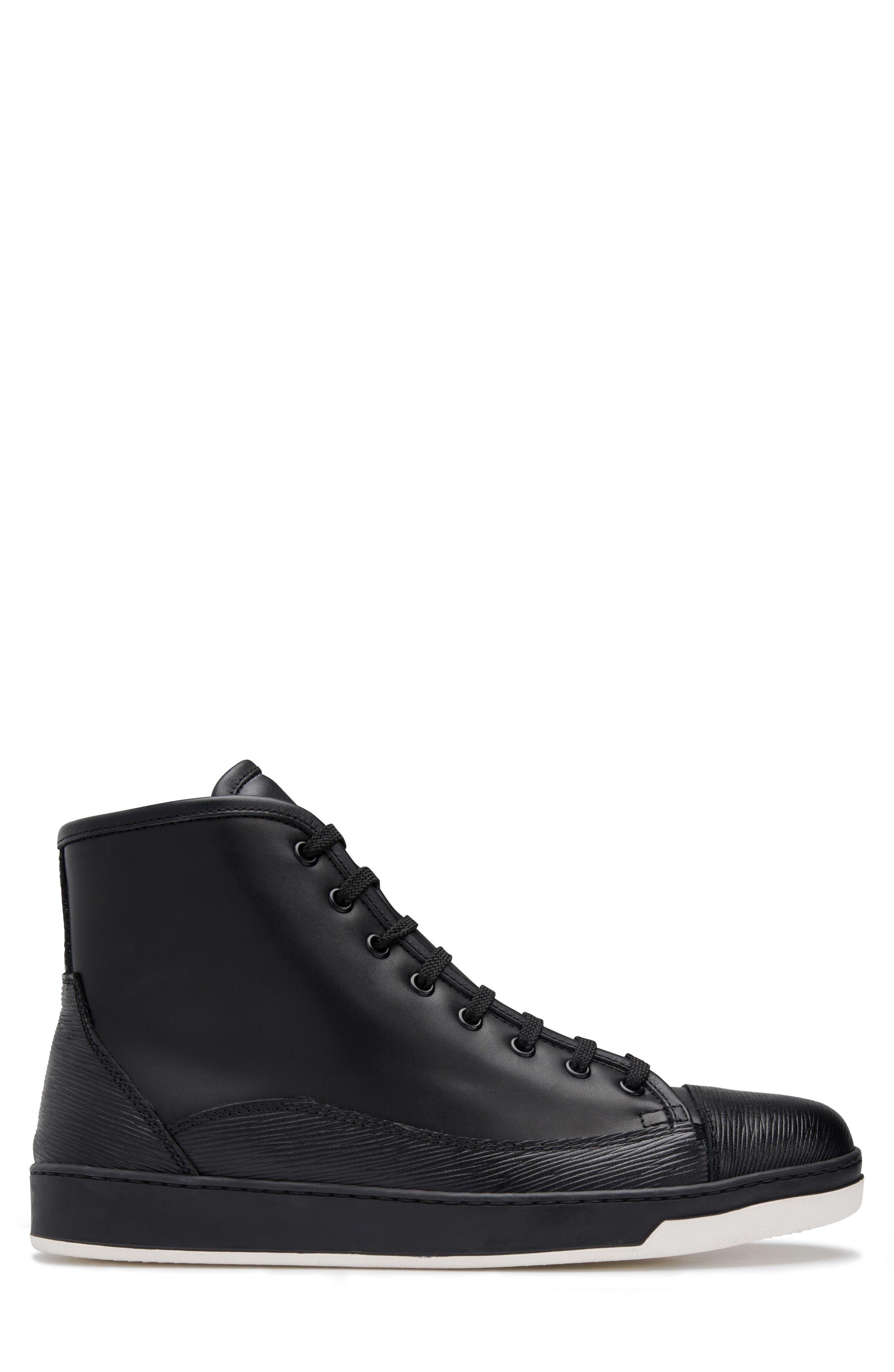 Livorno High Top Sneaker,                             Alternate thumbnail 3, color,                             NERO