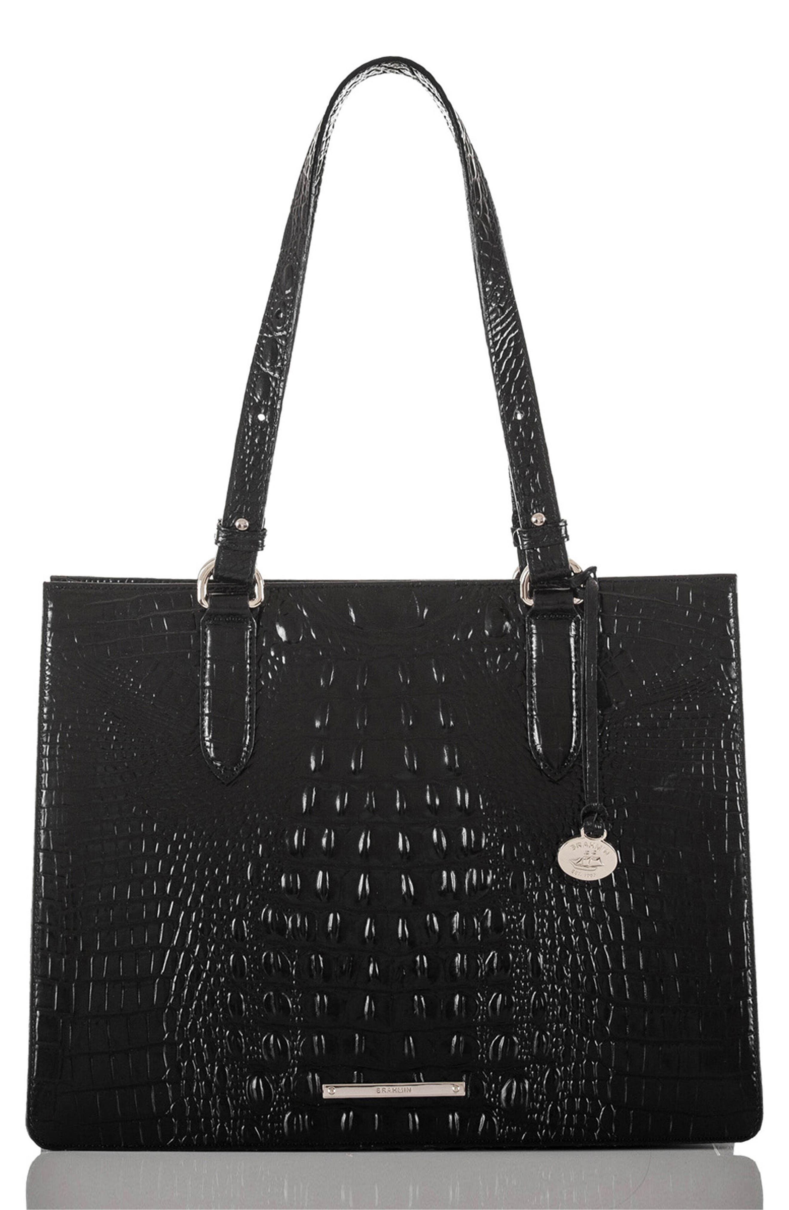 Medium Camille Leather Tote,                             Main thumbnail 1, color,                             001