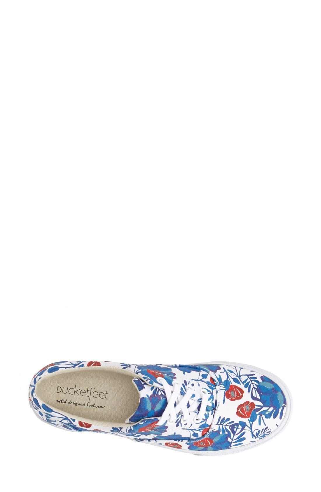 'Floral' Sneaker,                             Alternate thumbnail 4, color,                             400
