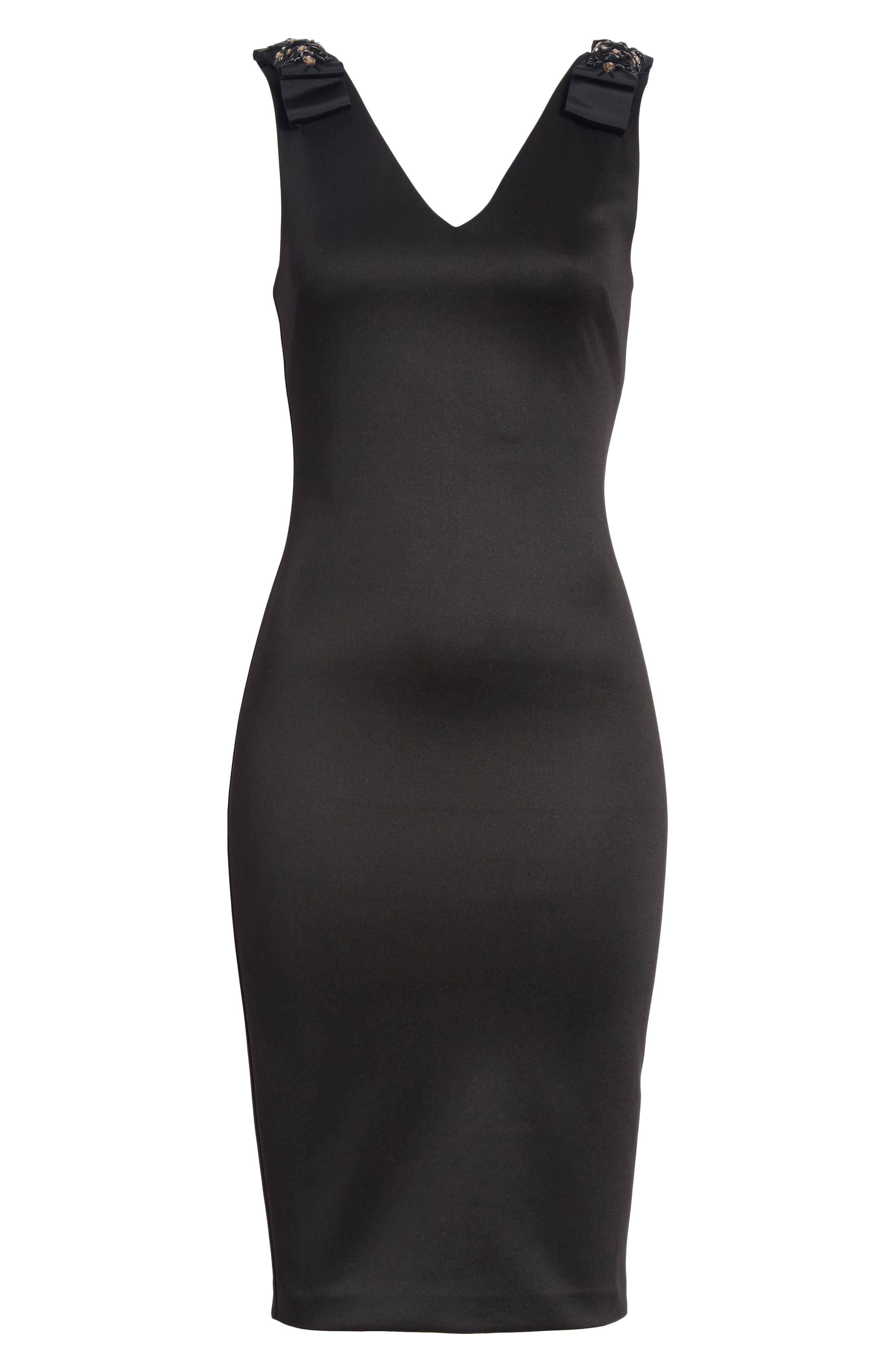 Belliah Bow Shoulder Body-Con Dress,                             Alternate thumbnail 6, color,