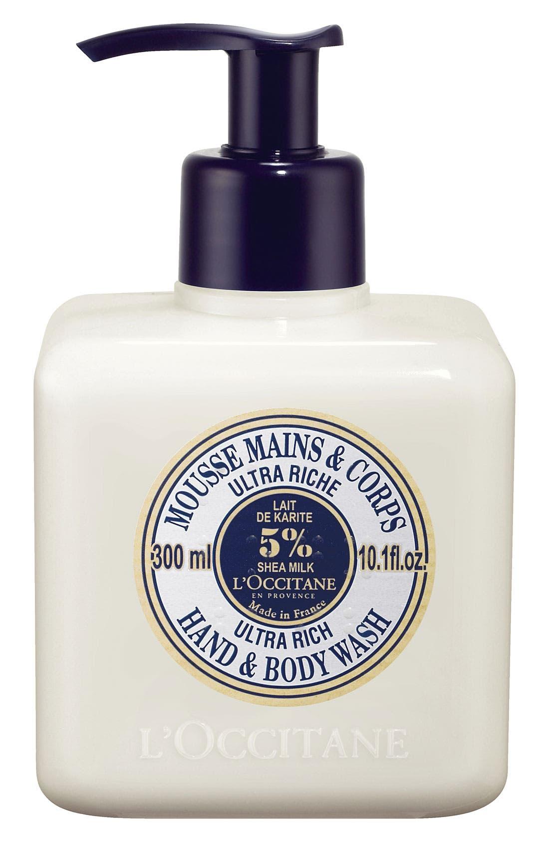 Shea Butter Ultra Rich Hand & Body Wash,                             Main thumbnail 1, color,                             NO COLOR