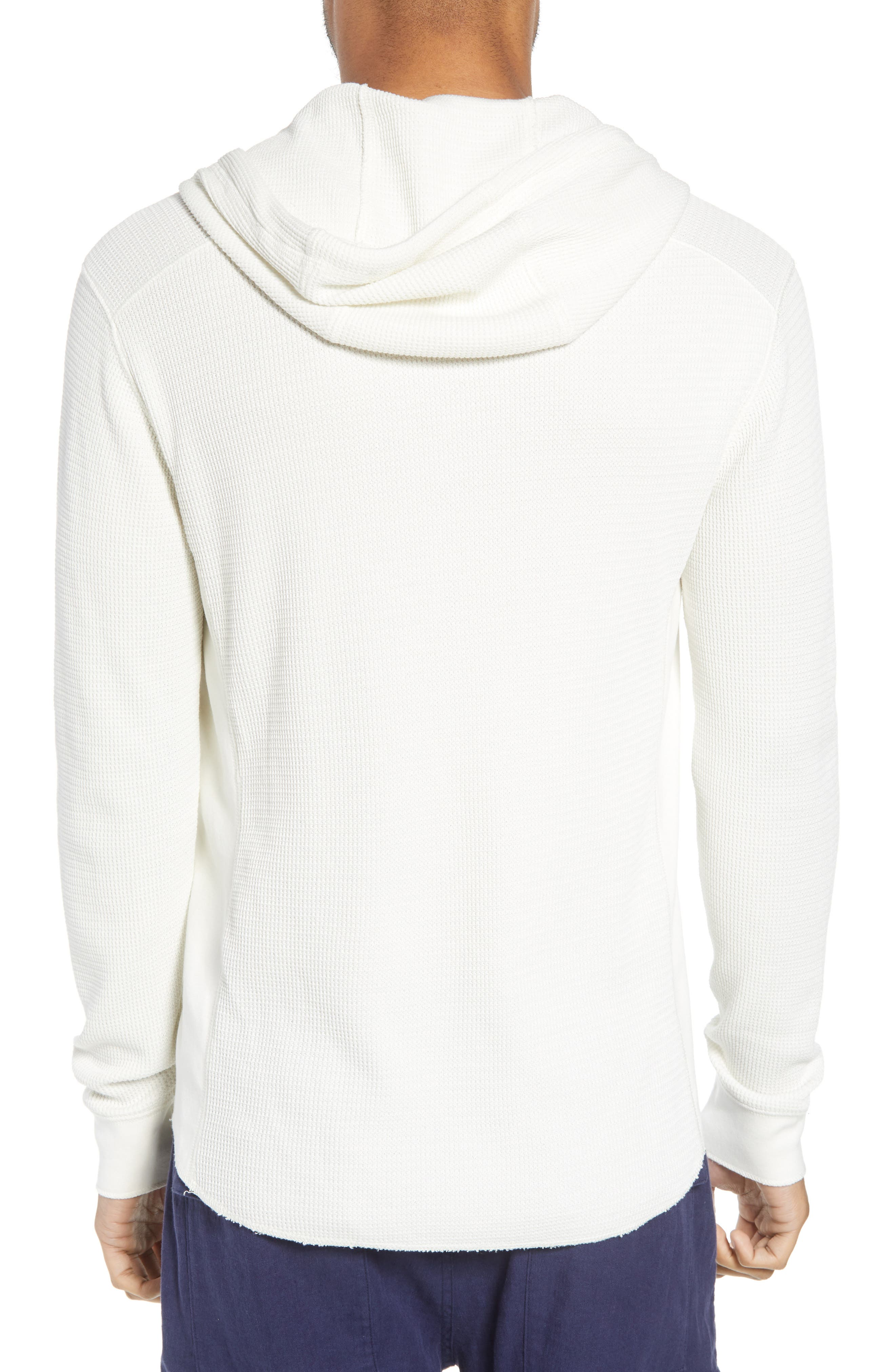 Regular Fit Thermal Knit Pullover Hoodie,                             Alternate thumbnail 2, color,                             110