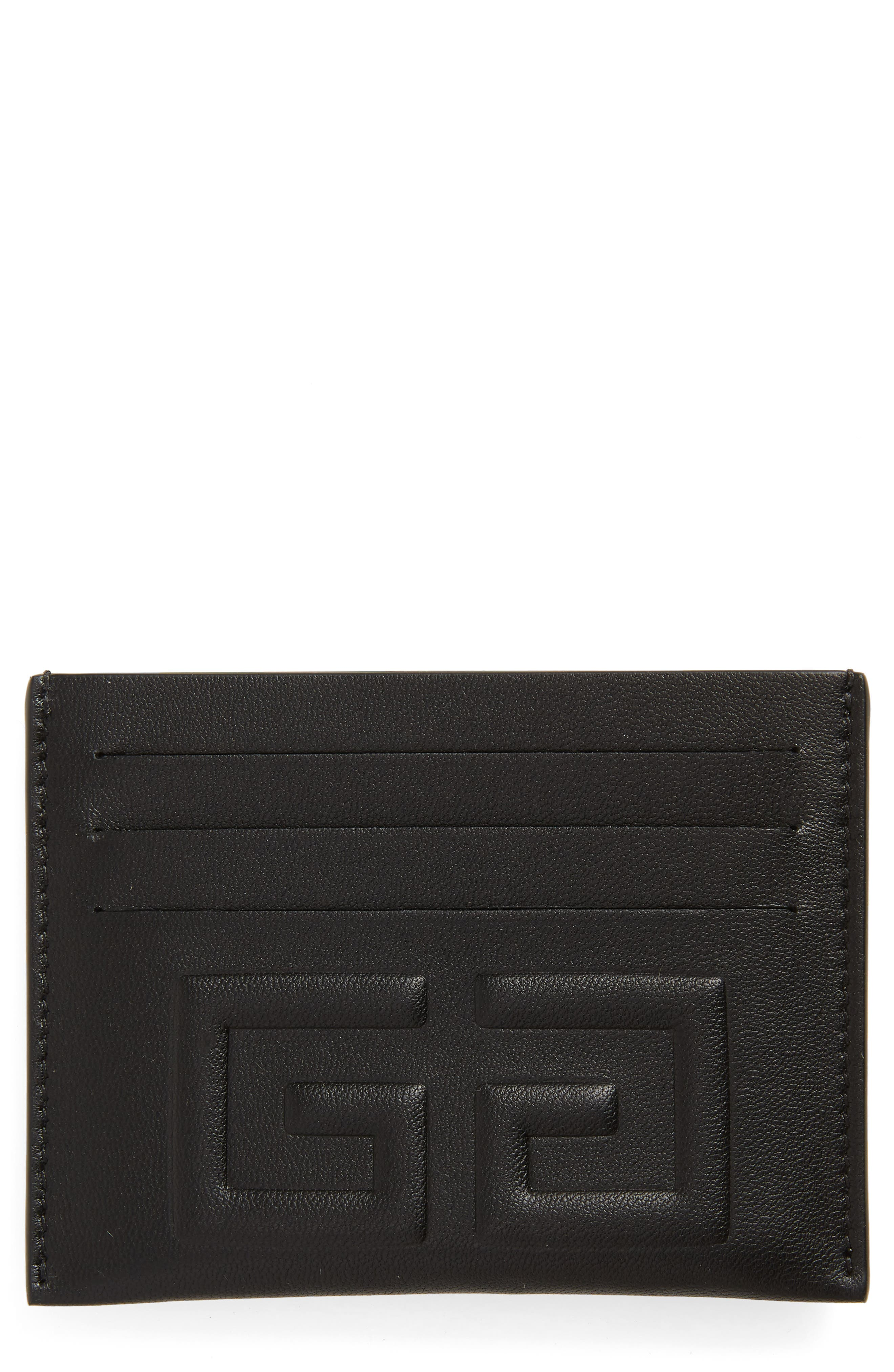 4G Leather Card Holder,                         Main,                         color, 006