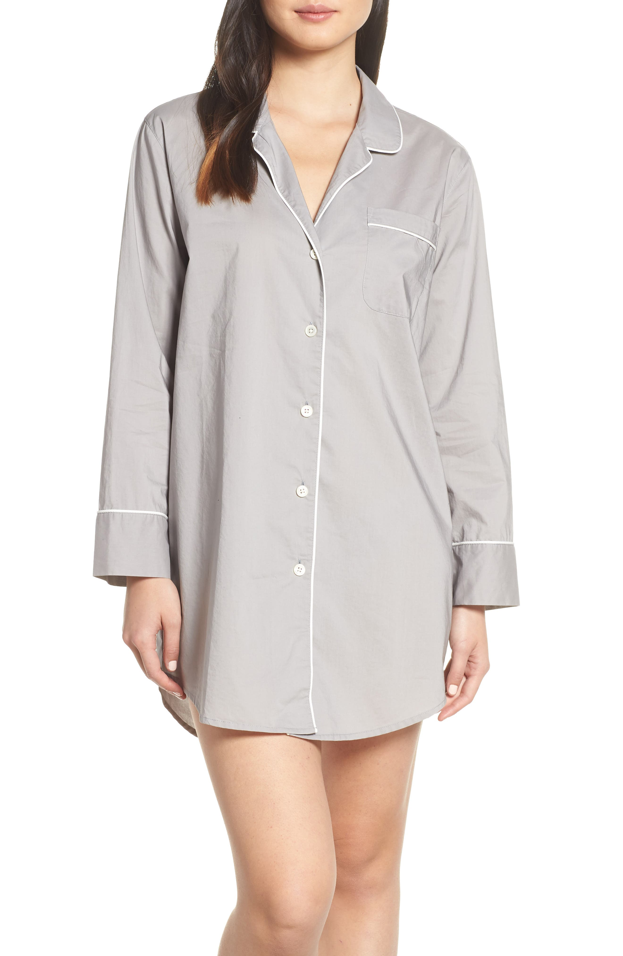 End on End Sleep Shirt,                         Main,                         color, VINTAGE DOVE