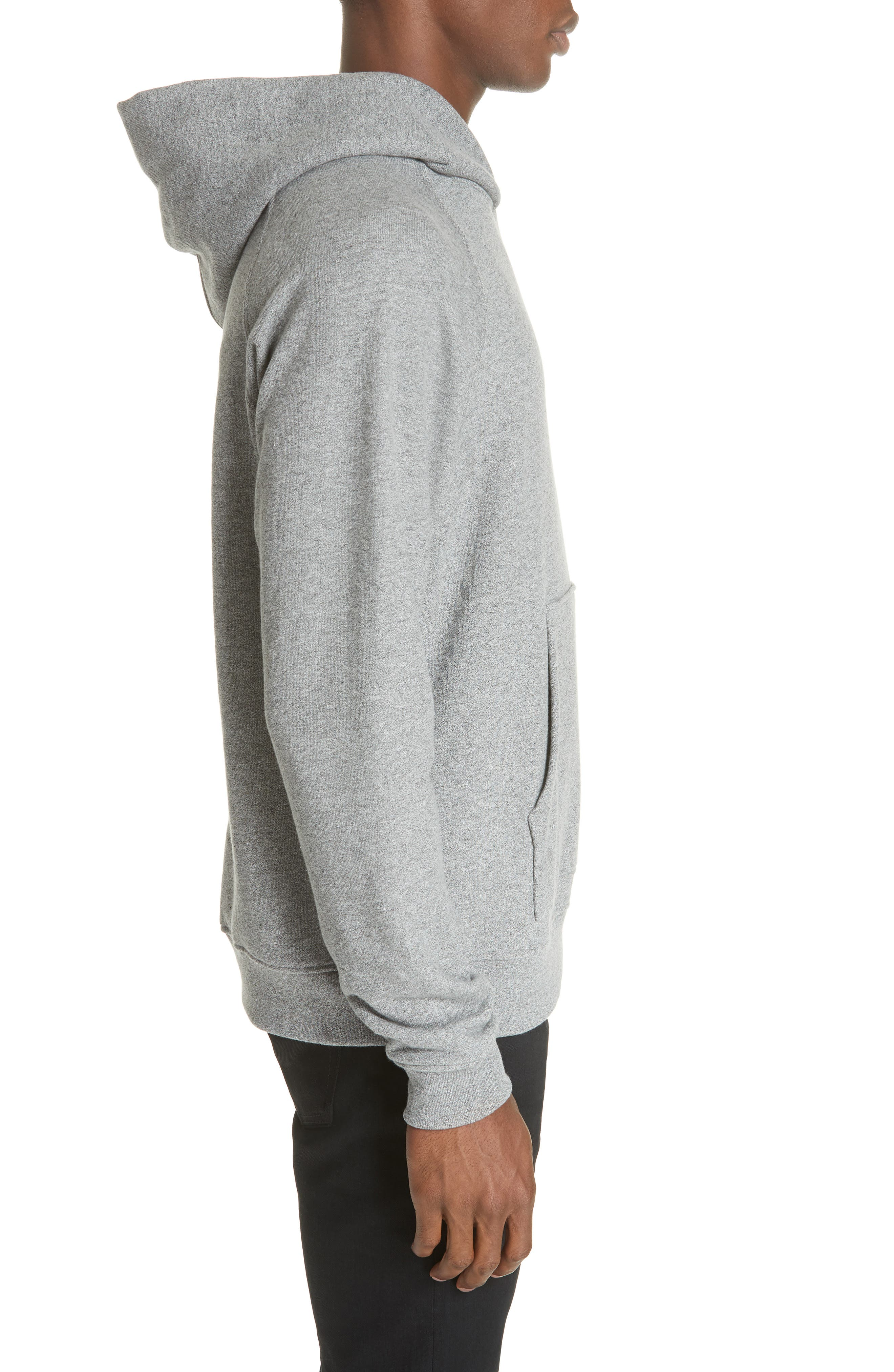 Raglan Hooded Sweatshirt,                             Alternate thumbnail 3, color,                             DARK GREY