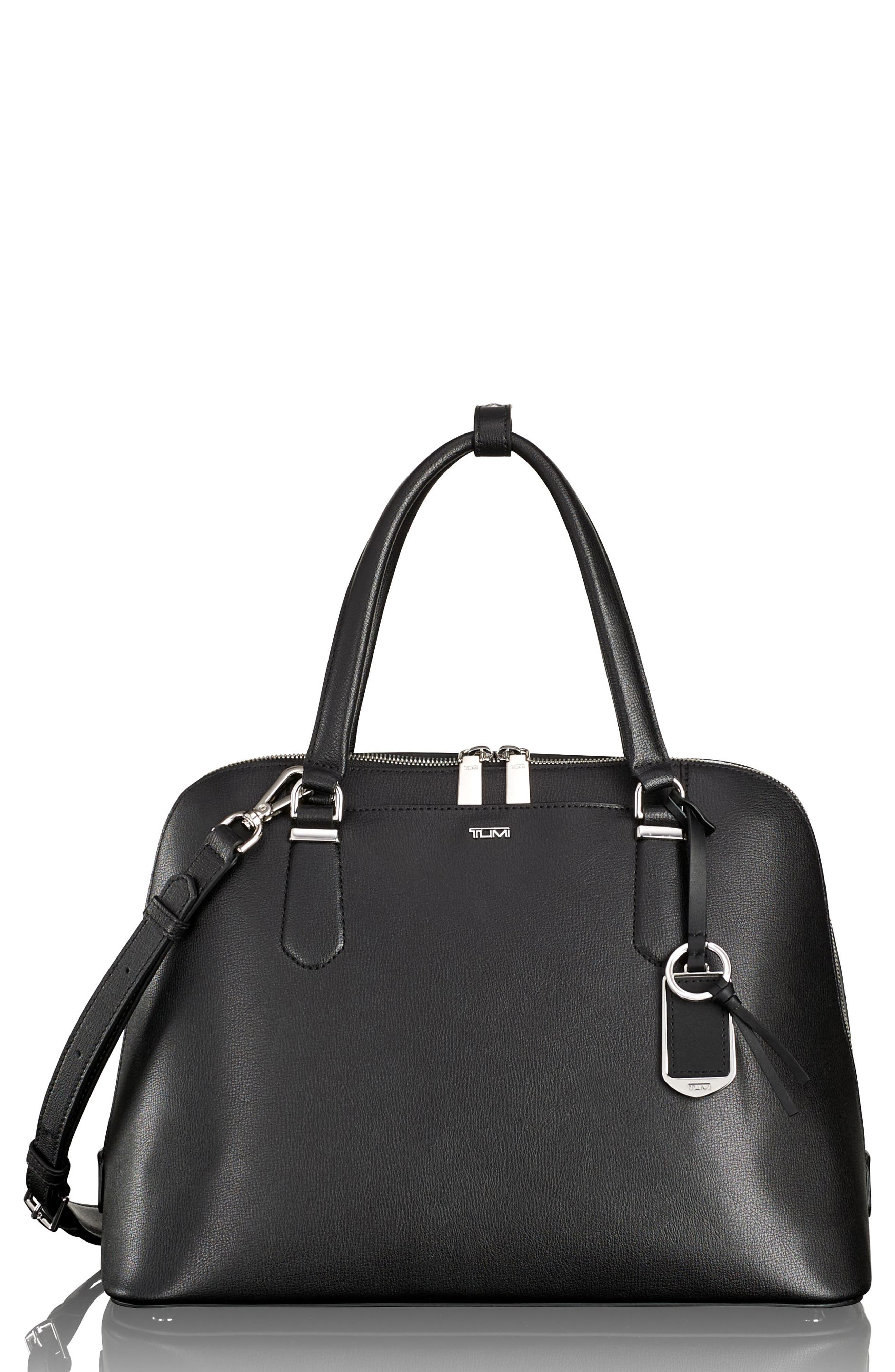 Stanton – Deonne Domed Leather Satchel,                         Main,                         color, 001