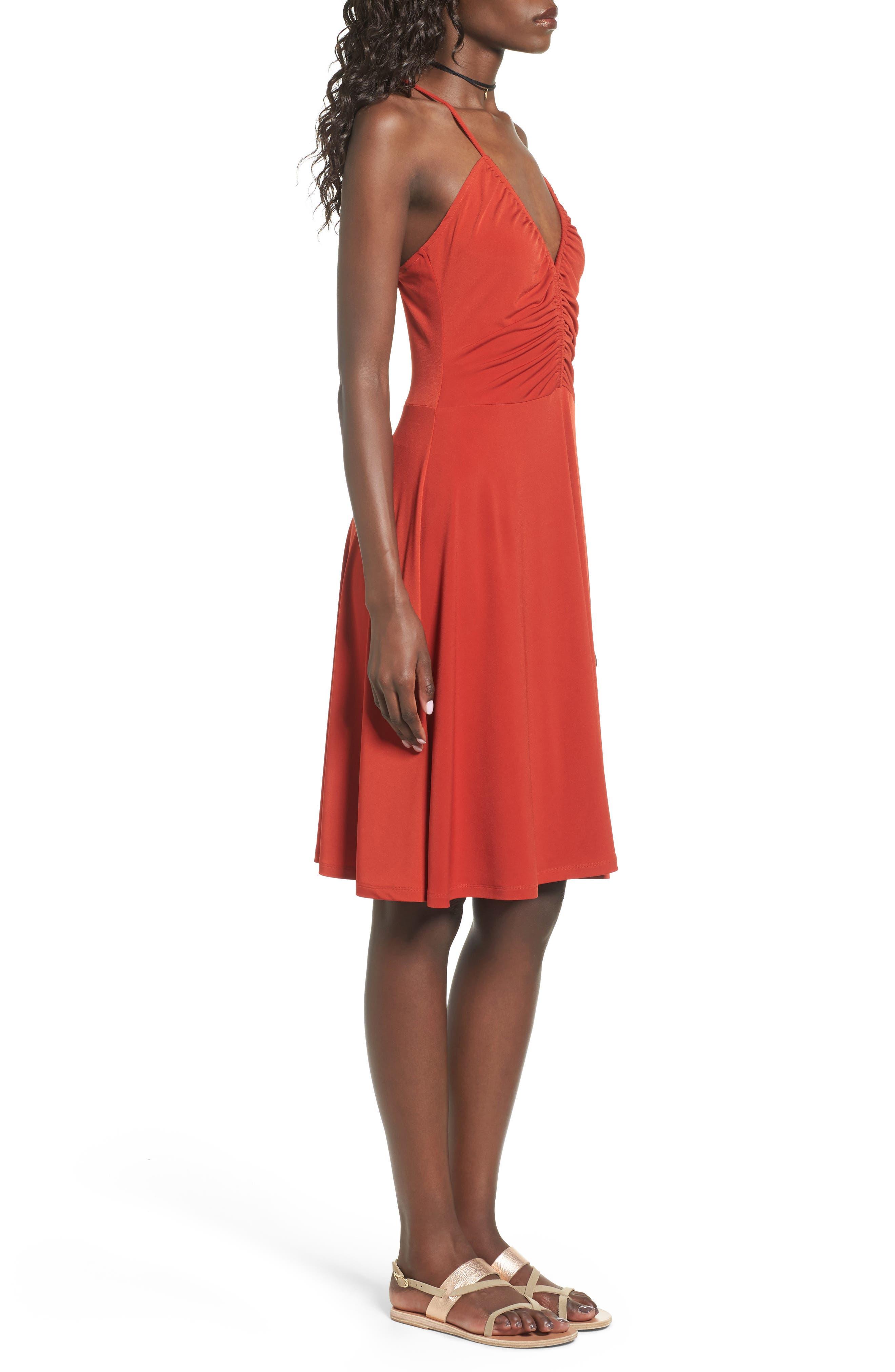 Cinch Front Dress,                             Alternate thumbnail 3, color,                             610