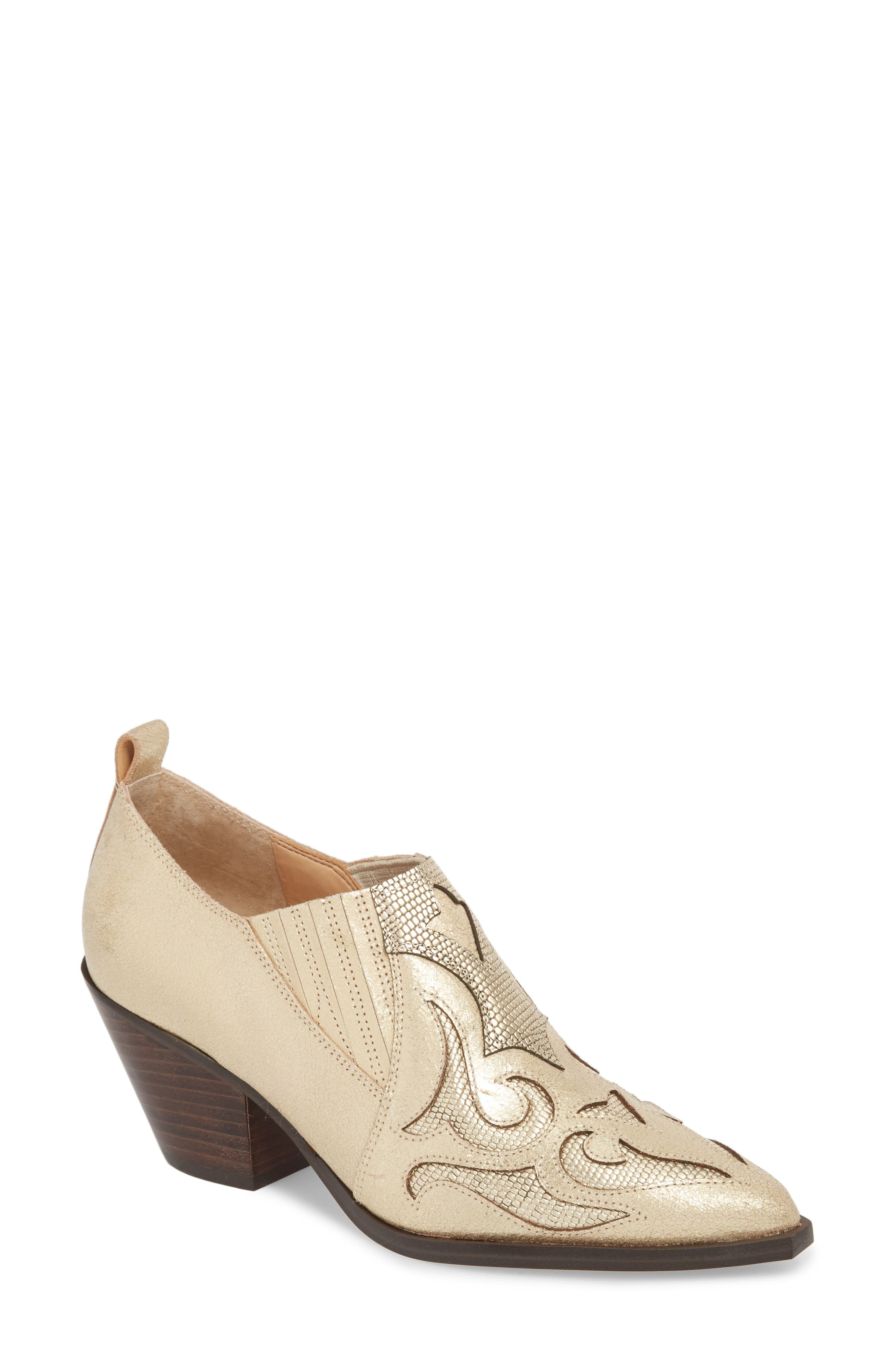 Marc Fisher Ltd Charly Western Bootie- Metallic