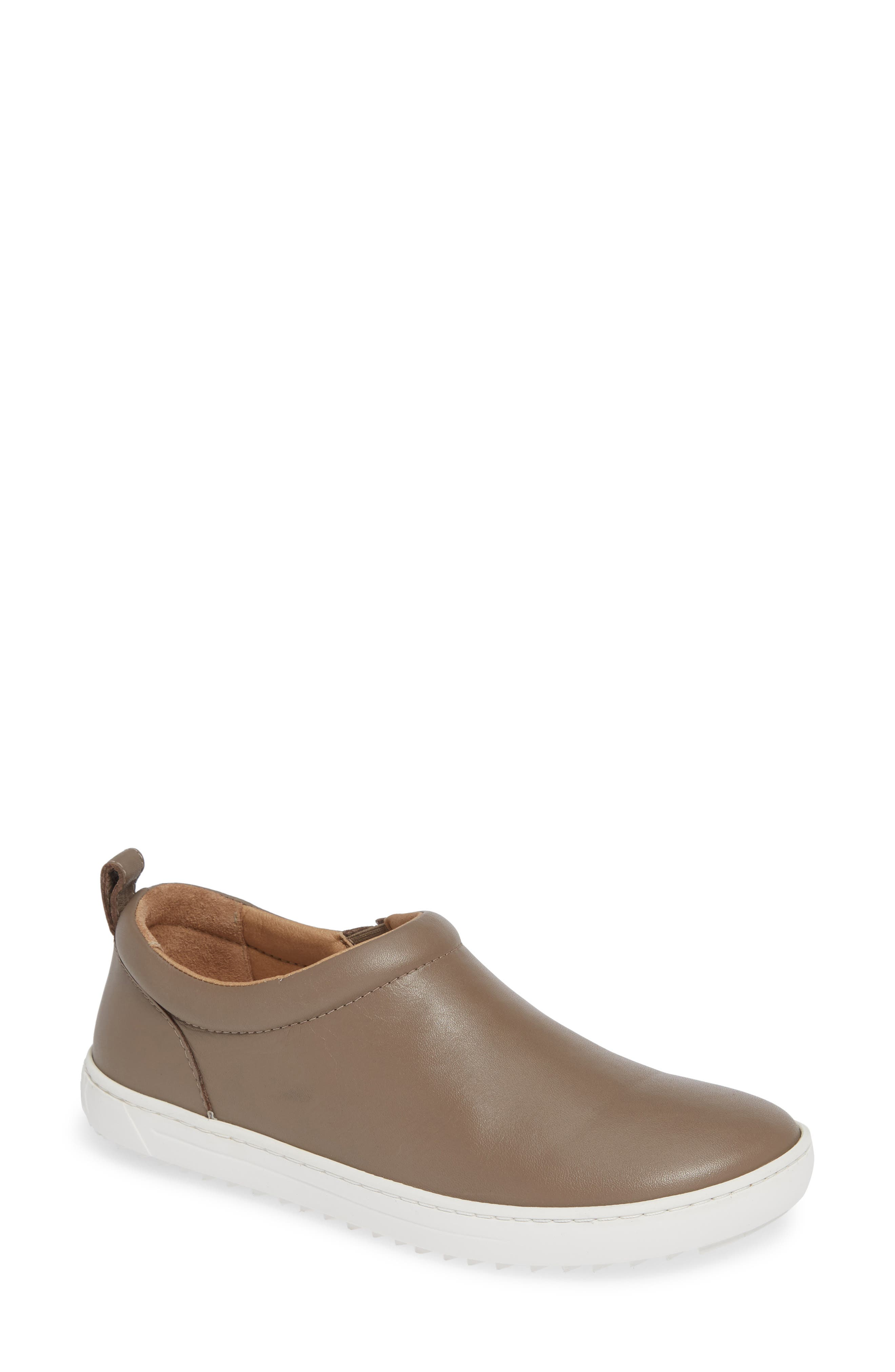 Rena Slip-On Sneaker,                             Main thumbnail 1, color,                             TAUPE LEATHER