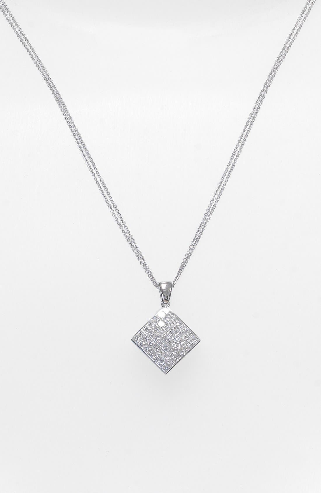 Diamond Pendant Necklace,                         Main,                         color, 710