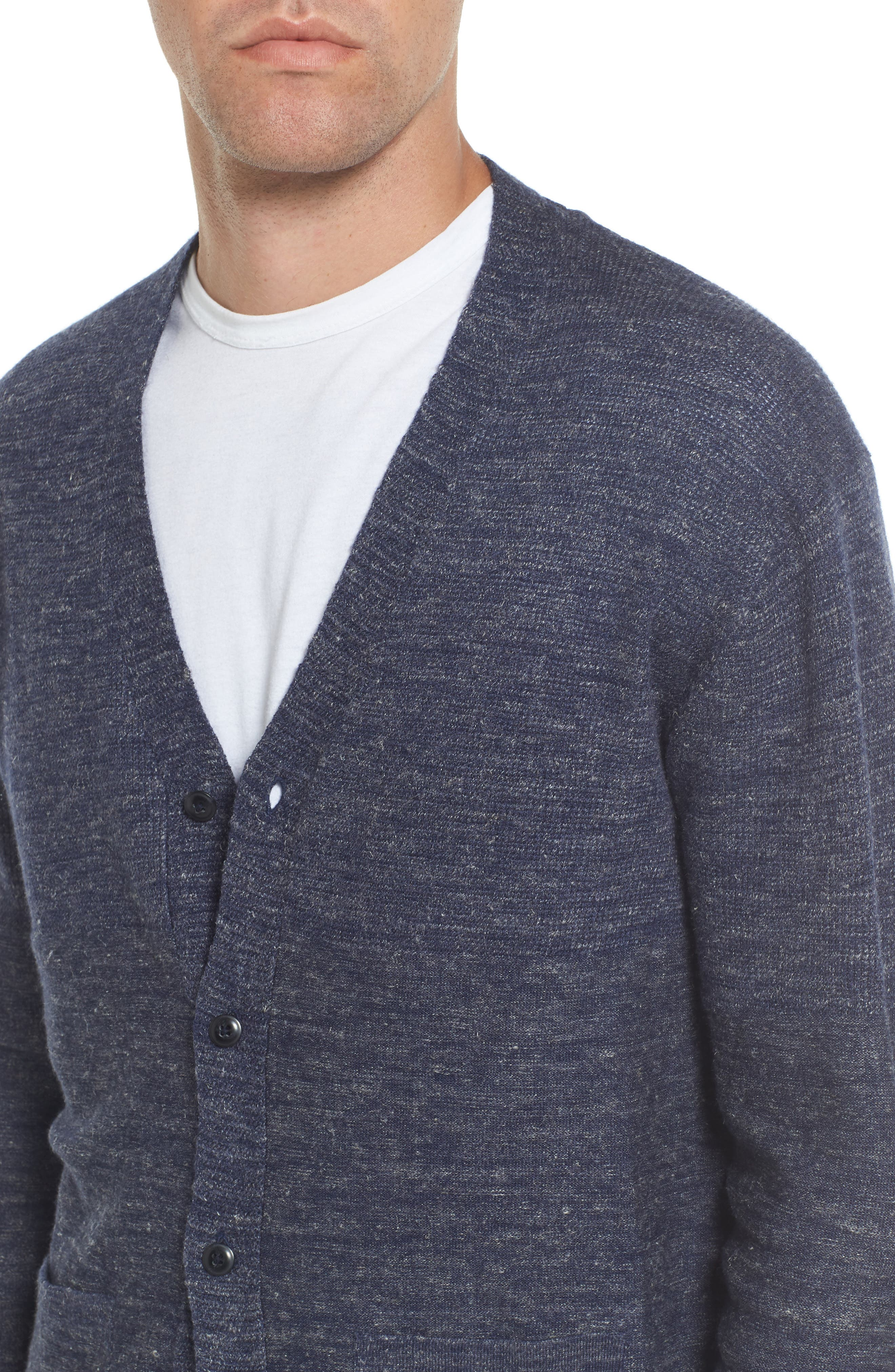 Wadsworth Modern Fit Wool & Linen Cardigan,                             Alternate thumbnail 4, color,