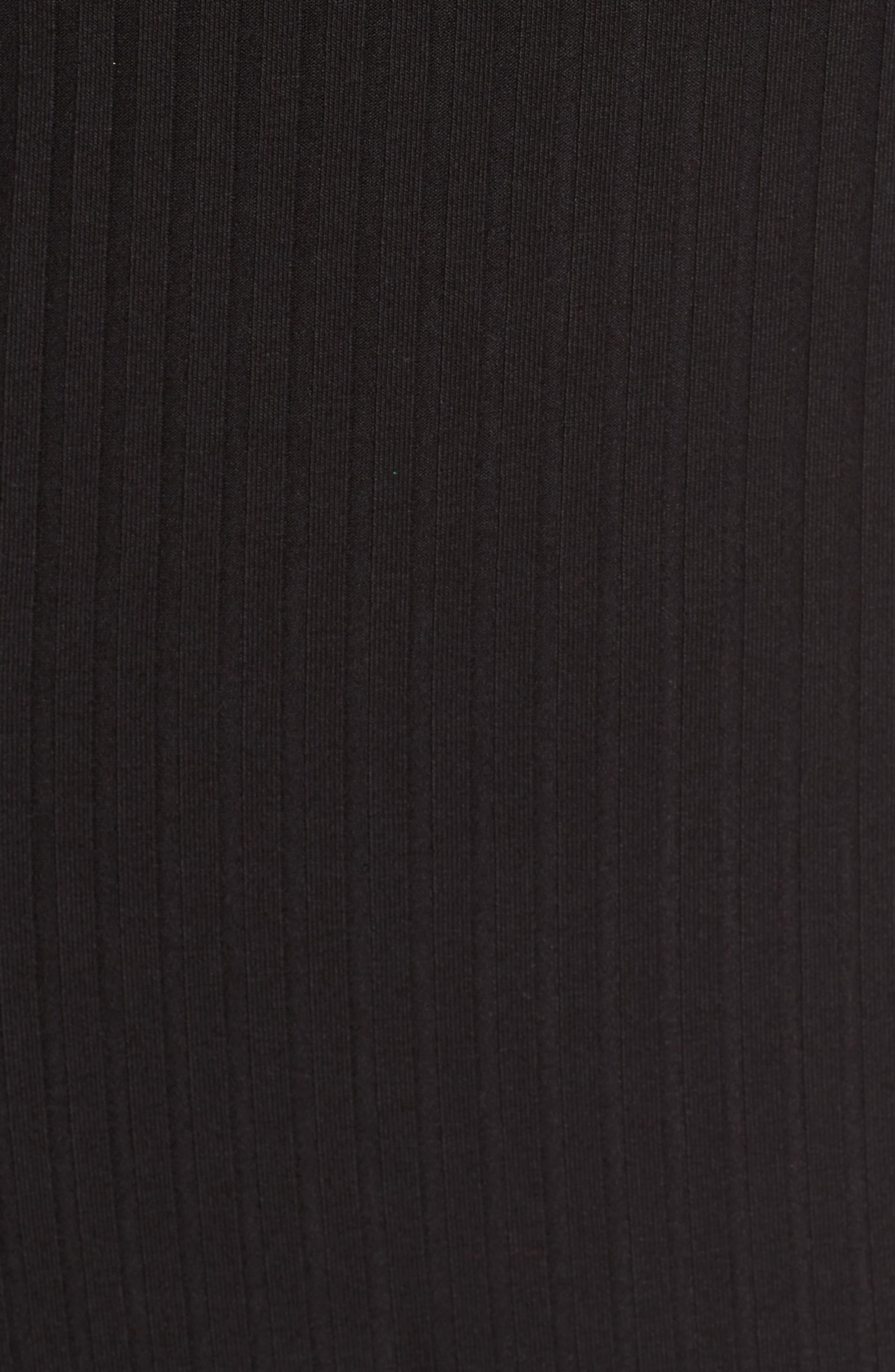 Ribbed Choker Dress,                             Alternate thumbnail 5, color,                             001