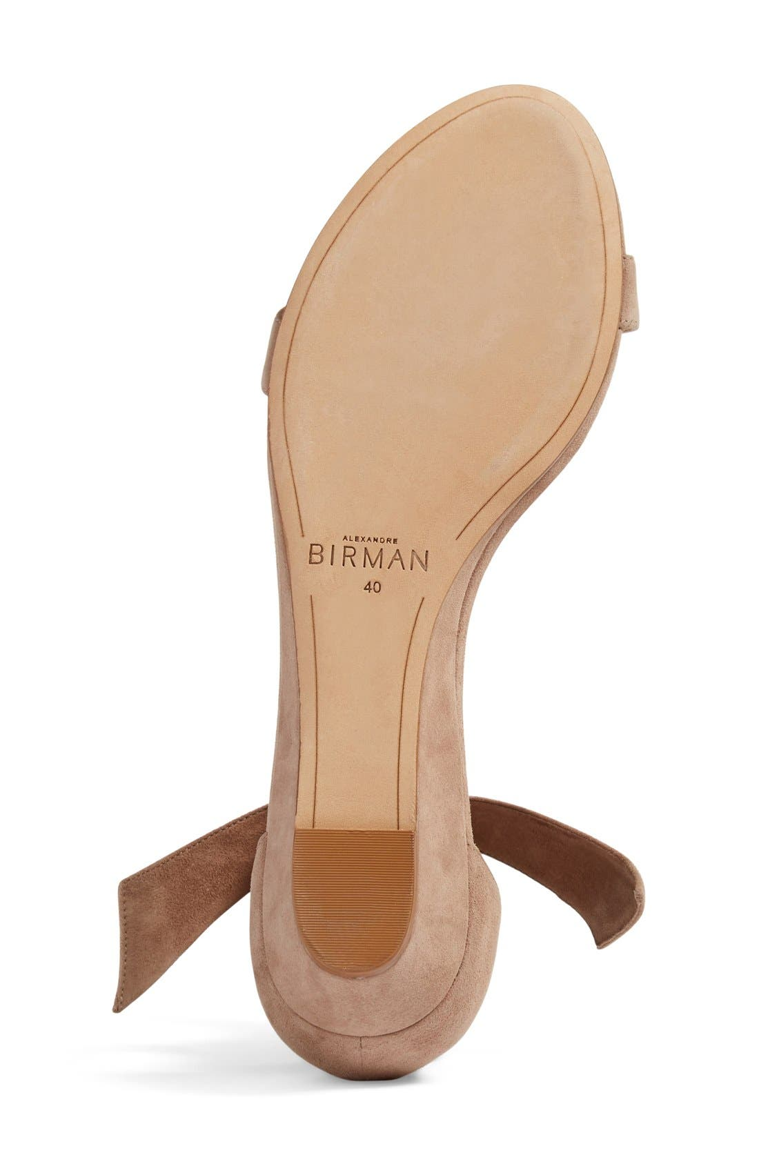 Atena Tie Strap Wedge Sandal,                             Alternate thumbnail 6, color,