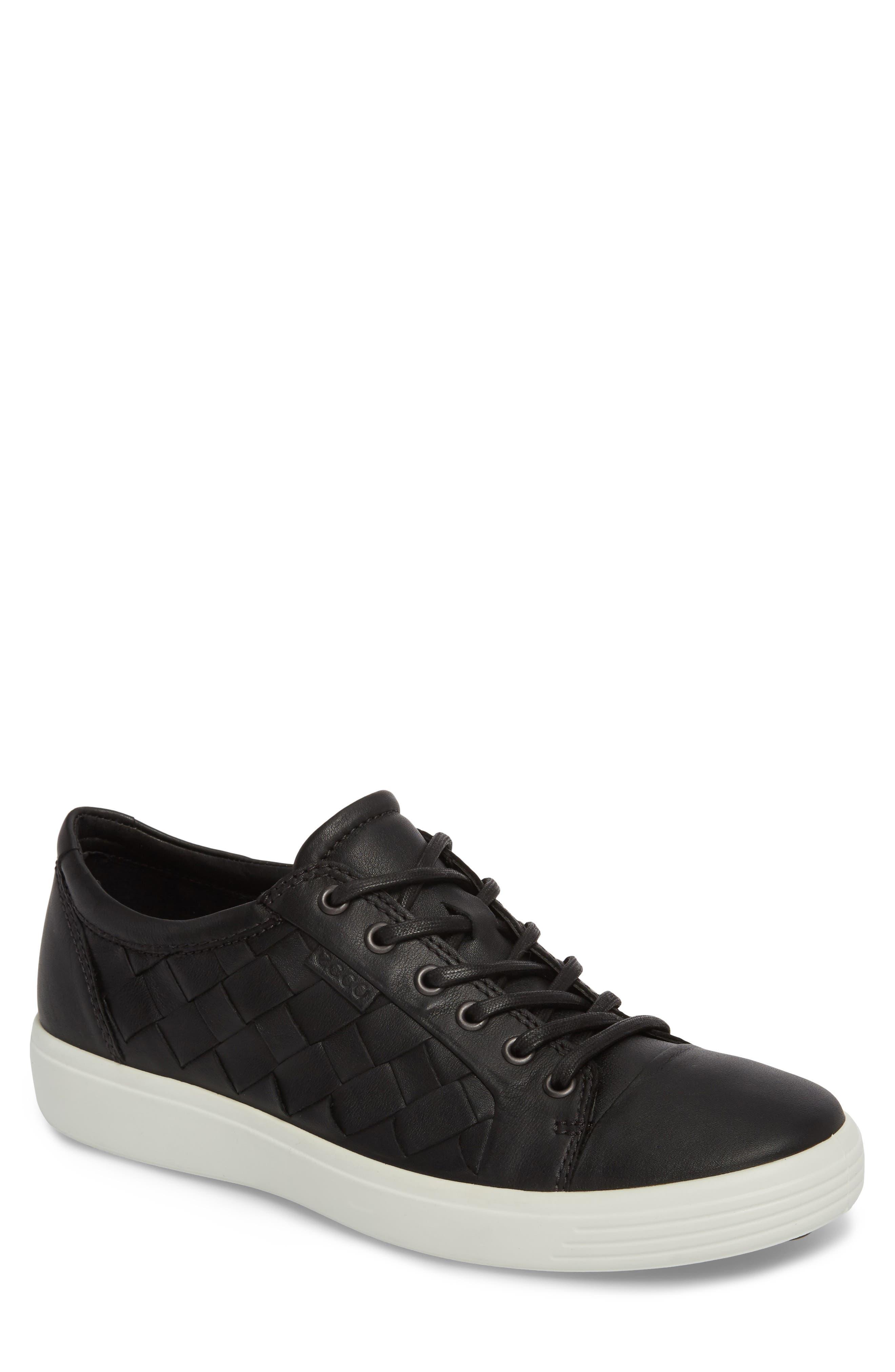 Ecco Soft 7 Woven Sneaker - Black