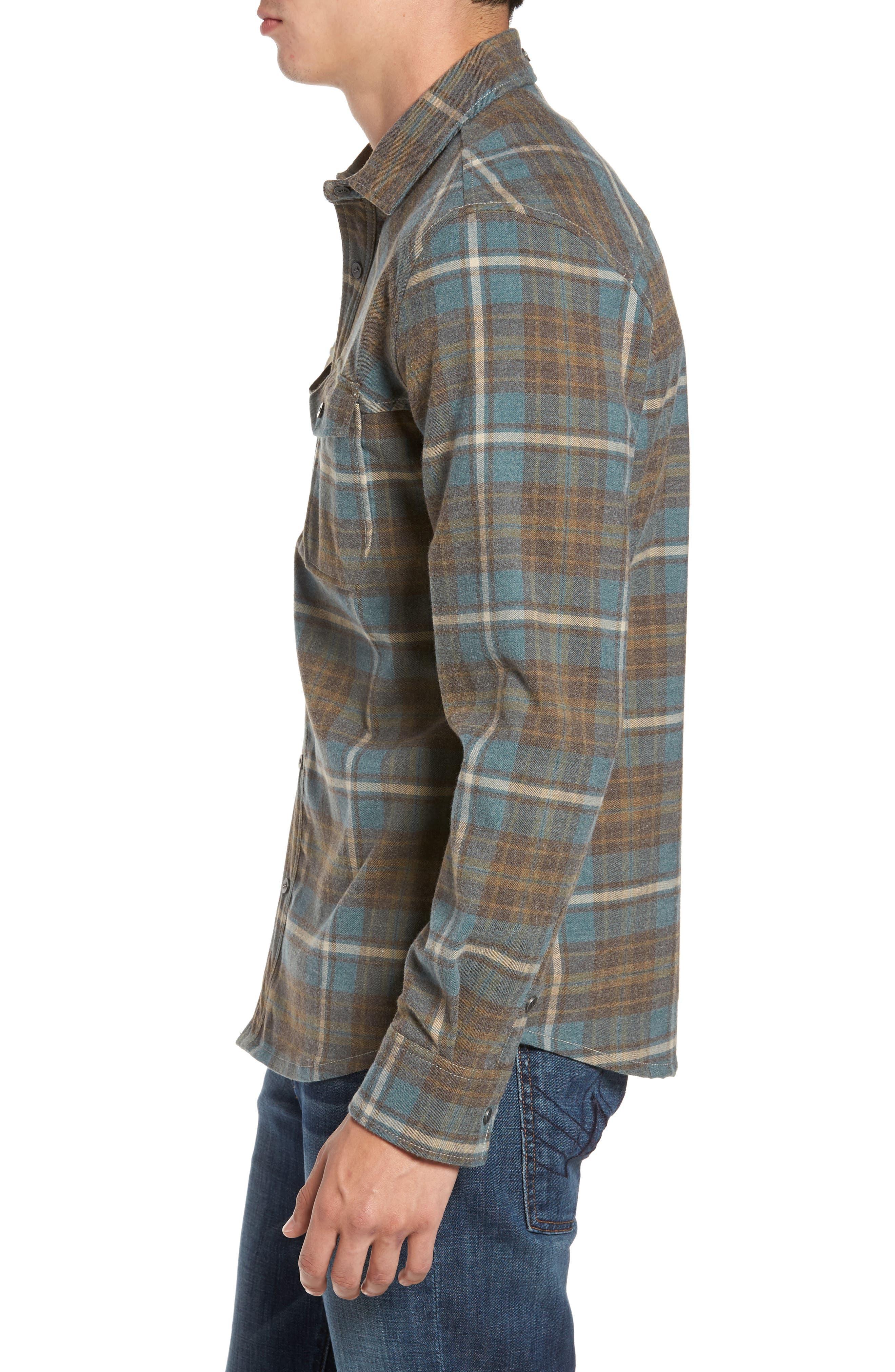 Ranger Plaid Shirt,                             Alternate thumbnail 3, color,                             424