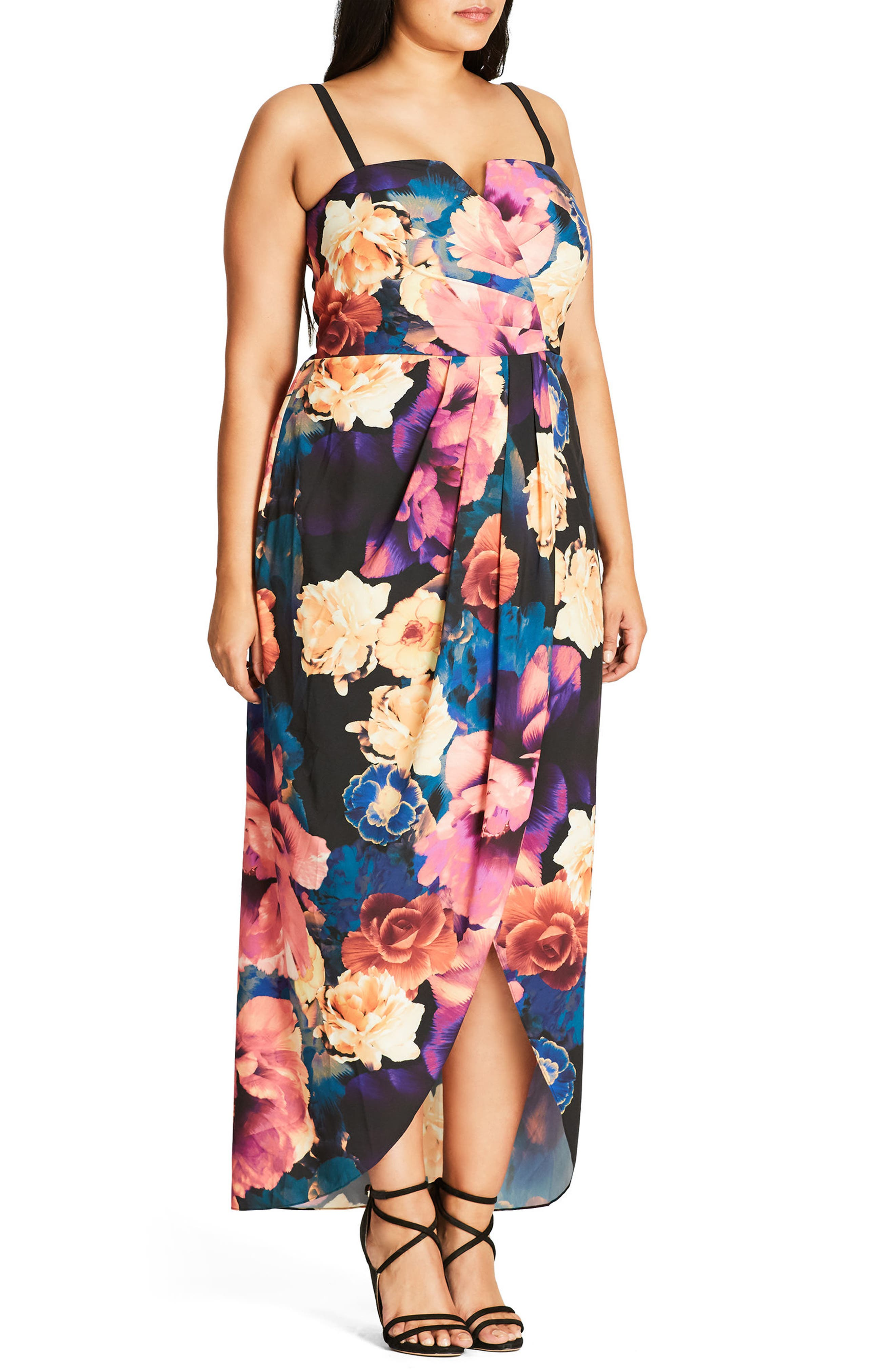 Secret Garden Maxi Dress,                             Alternate thumbnail 3, color,                             404