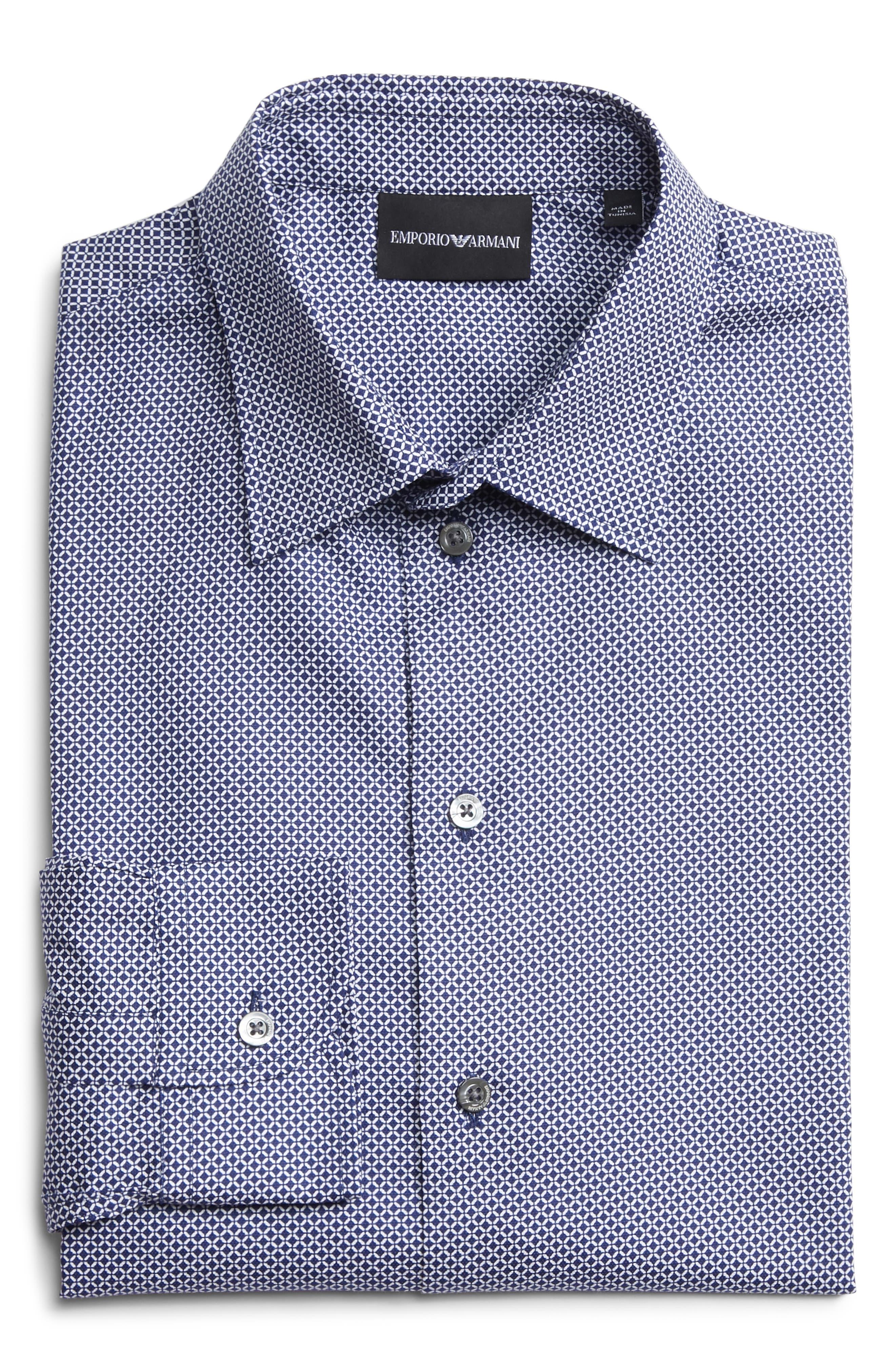 Regular Fit Sport Shirt,                             Alternate thumbnail 6, color,                             BLUE