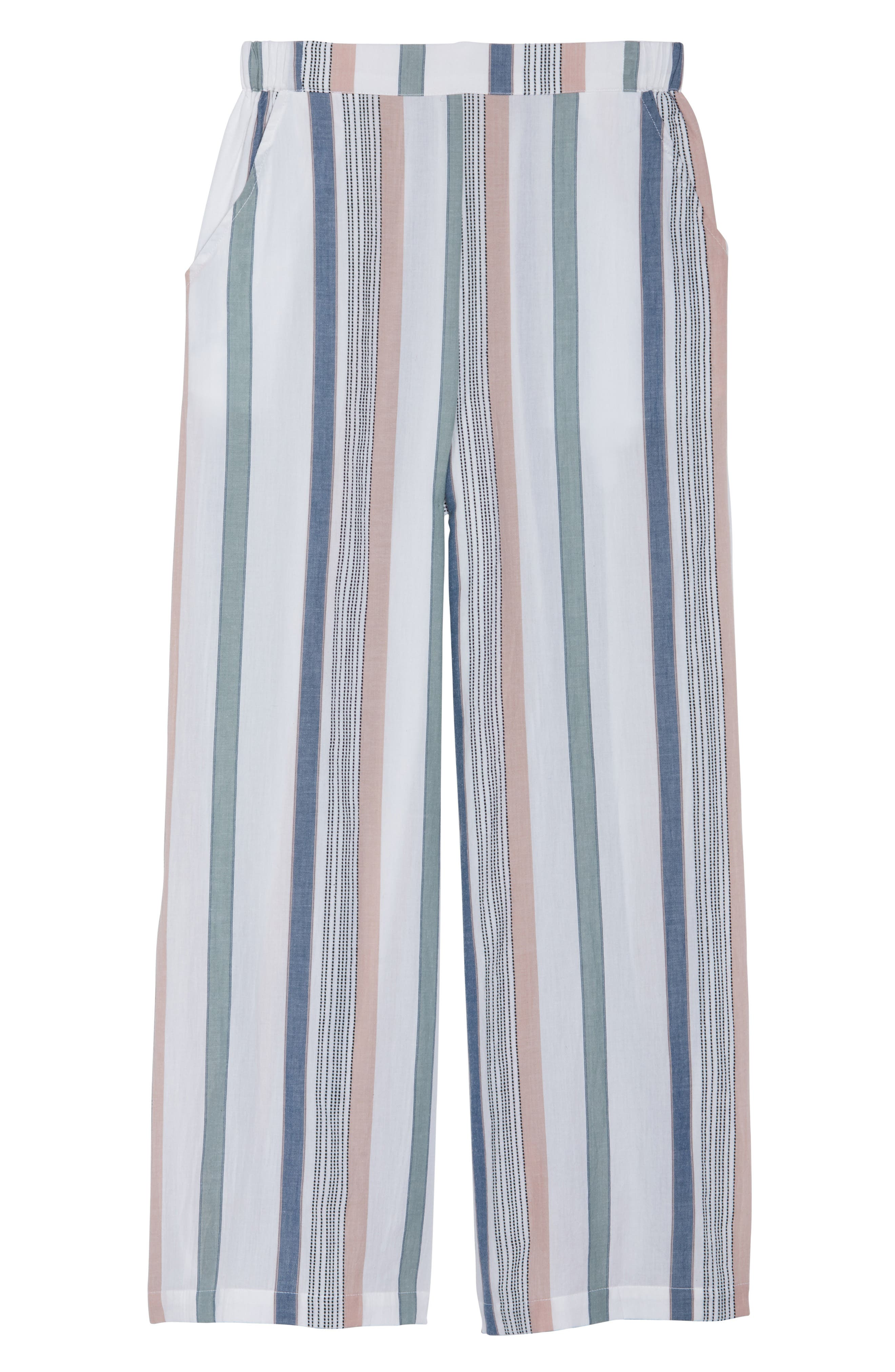 Hannah Cover-Up Pants,                             Alternate thumbnail 6, color,                             MEADOW GREEN STRIPE