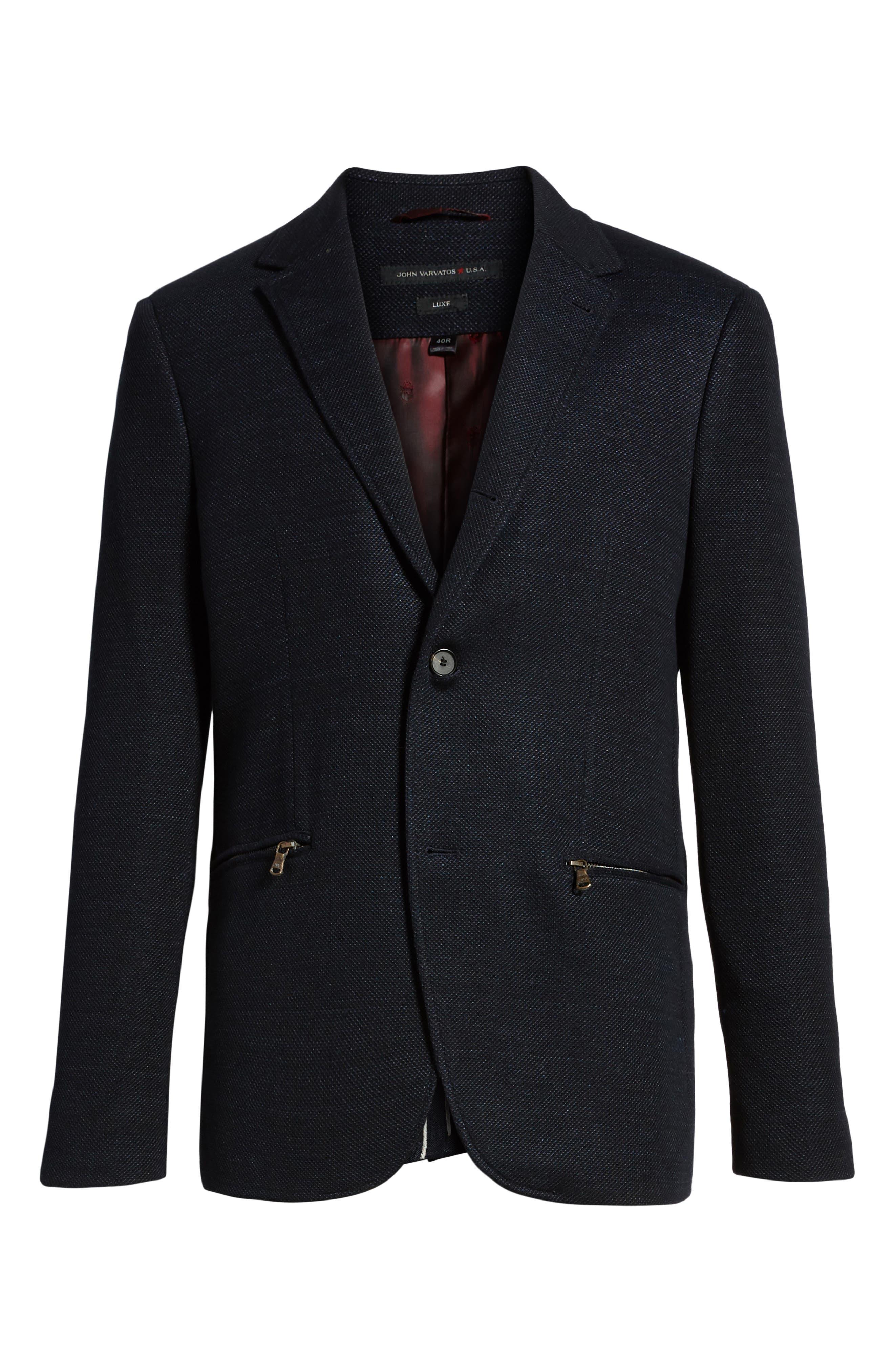 Regular Fit Cotton & Linen Blazer,                             Alternate thumbnail 5, color,                             405