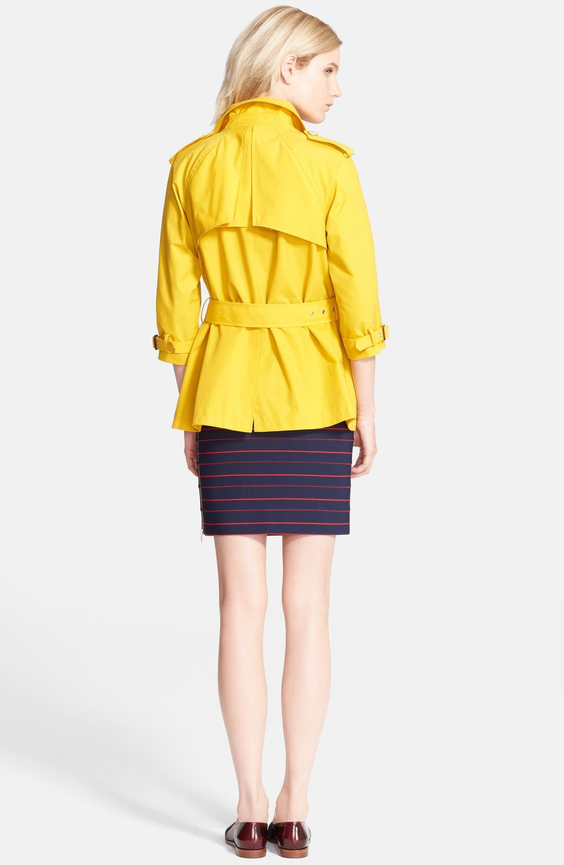 Belted A-Line Trench Coat,                             Alternate thumbnail 5, color,                             732