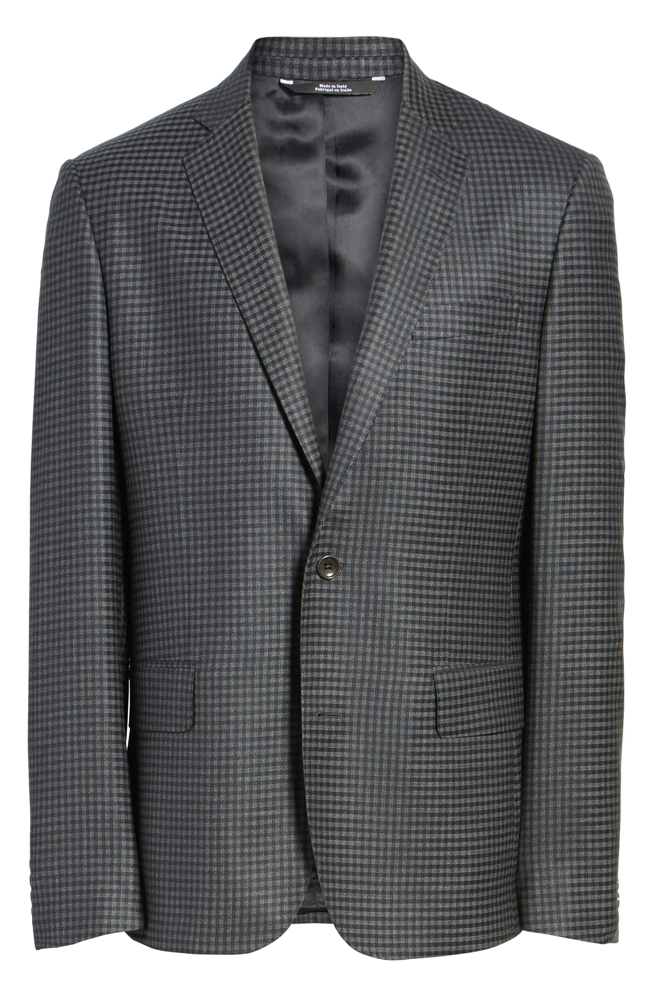 Classic Fit Check Wool Sport Coat,                             Alternate thumbnail 5, color,                             099