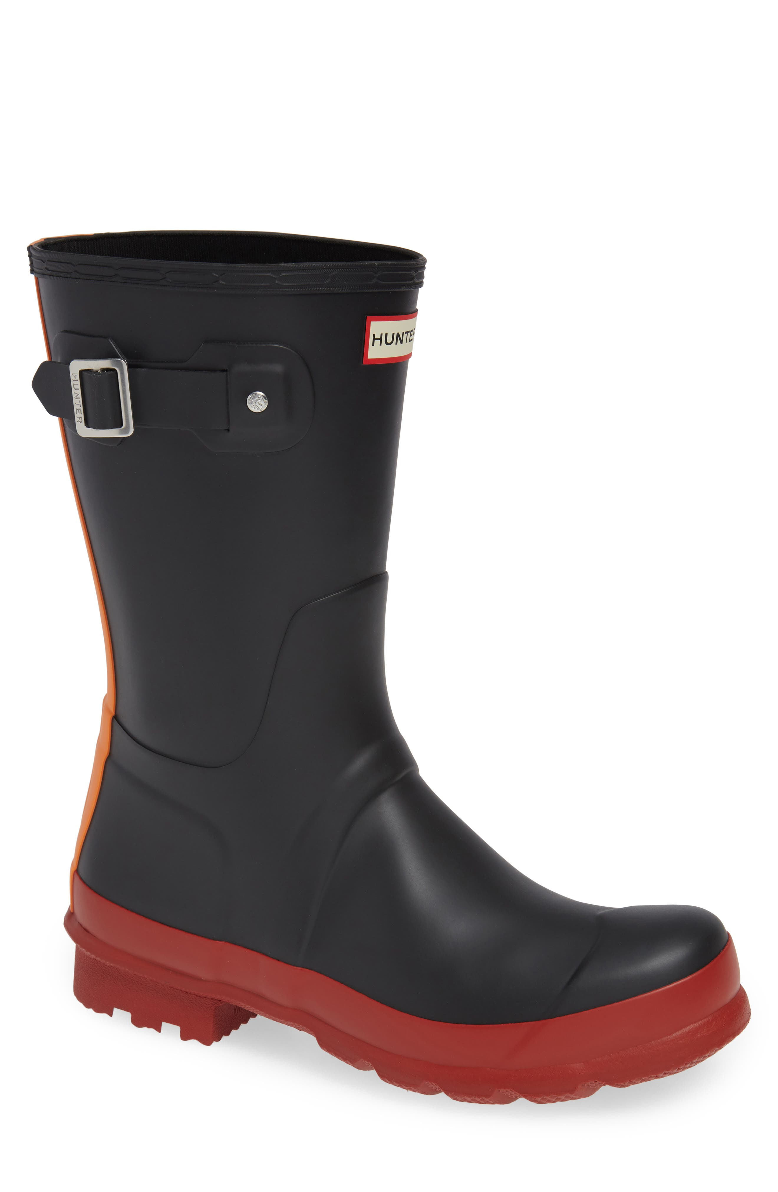 Waterproof Original Boot,                             Main thumbnail 1, color,                             BLACK/ RED COLOR BLOCK