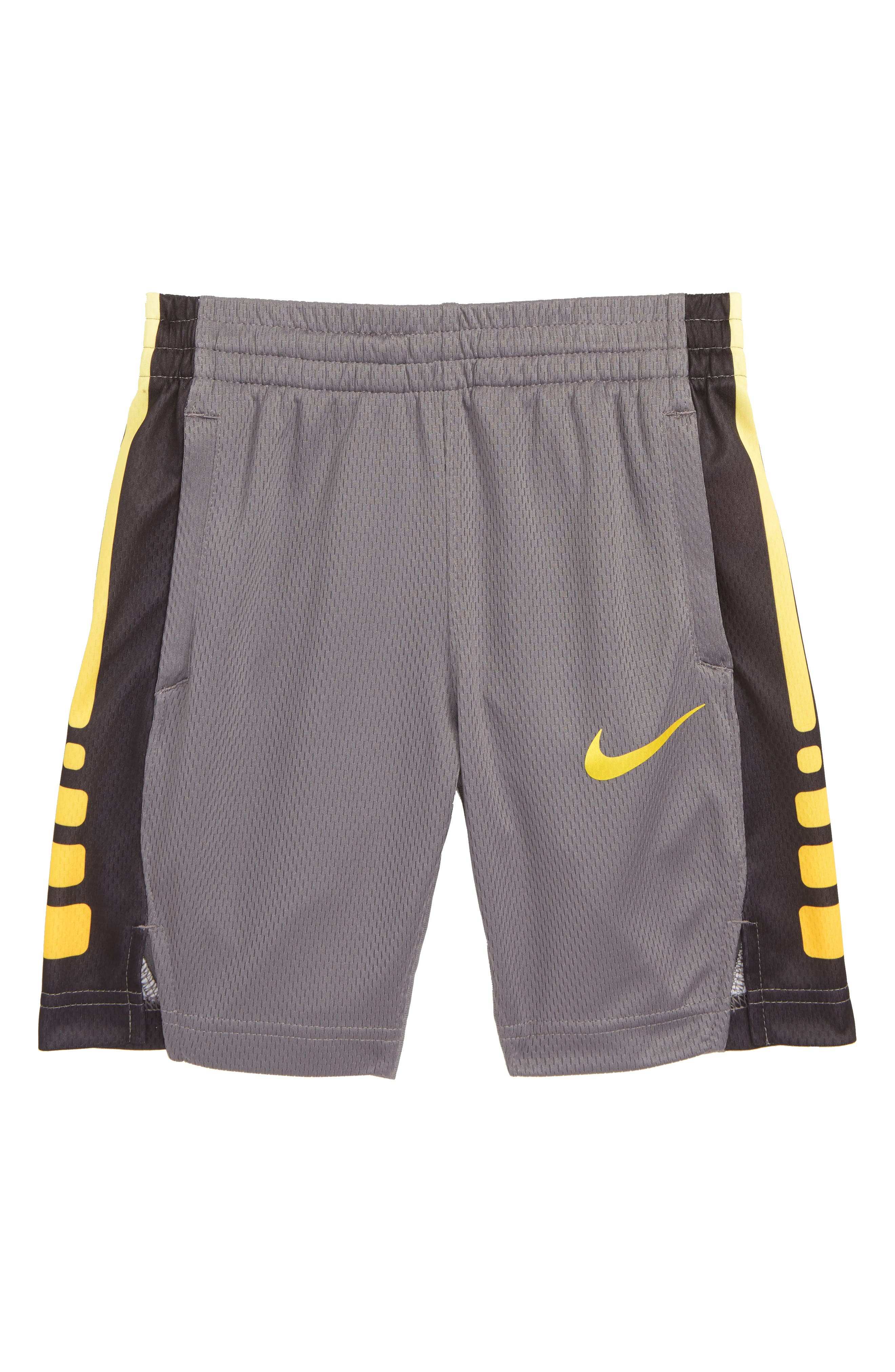 Elite Stripe Shorts,                         Main,                         color, GUNSMOKE