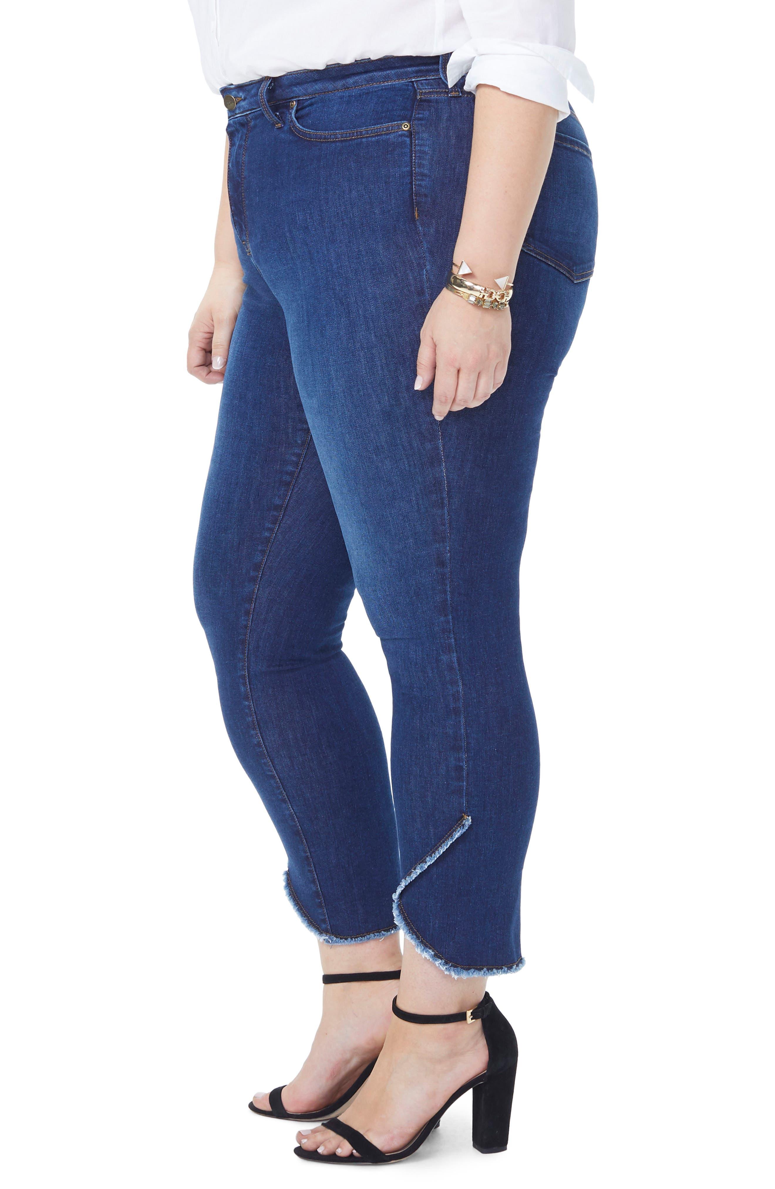 Sheri Envelope Hem Stretch Slim Ankle Jeans,                             Alternate thumbnail 3, color,                             COOPER