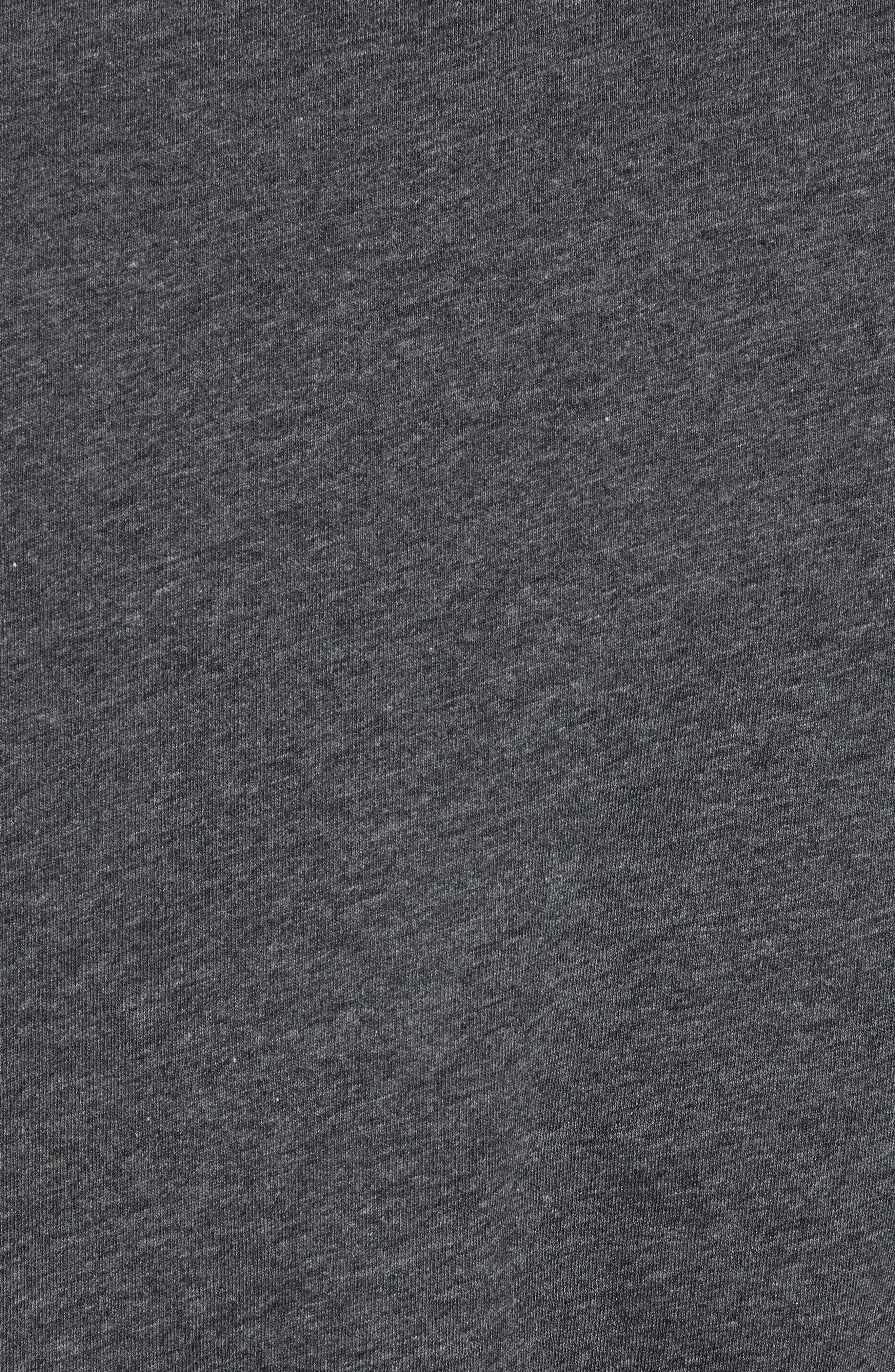 Mercer V-Neck T-Shirt,                             Alternate thumbnail 5, color,                             DARK HEATHER CHARCOAL
