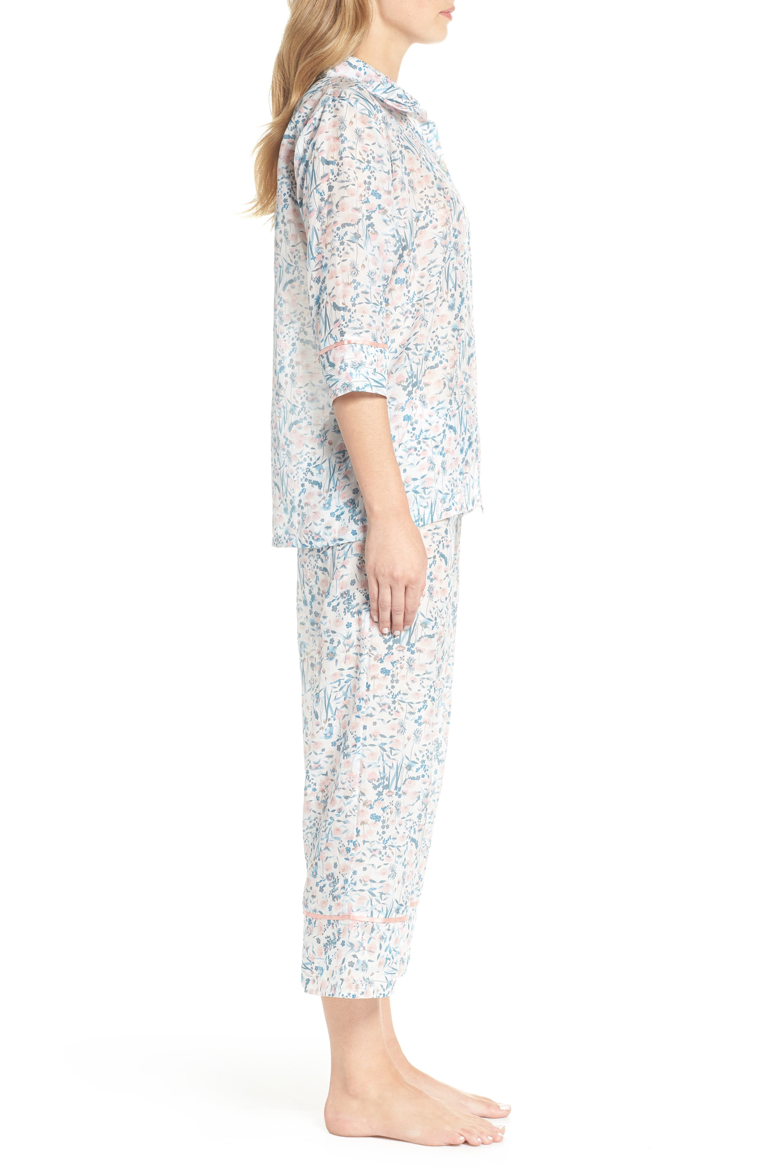 Ellie Crop Pajamas,                             Alternate thumbnail 3, color,                             400