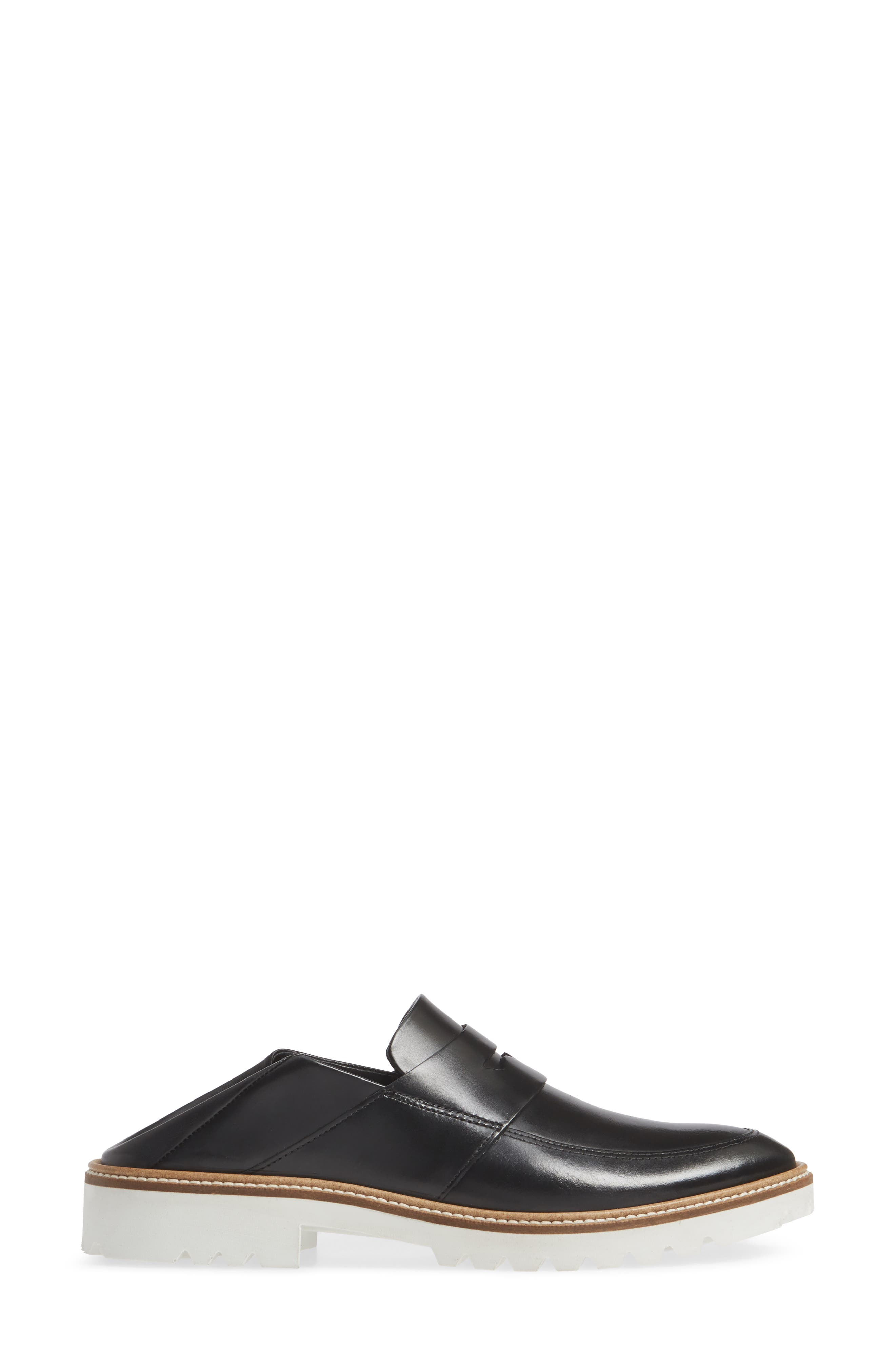 Incise Tailored Convertible Loafer,                             Alternate thumbnail 4, color,                             BLACK LEATHER