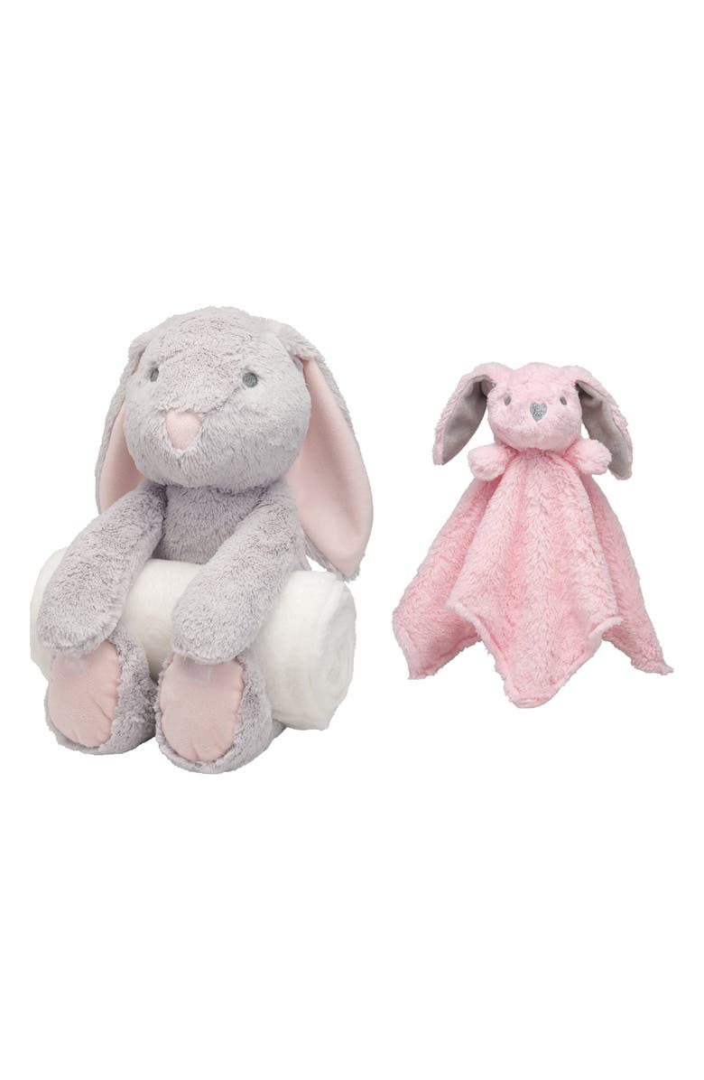 Elegant Baby Bunny Bedtime Huggie Stuffed Animal Blanket Security