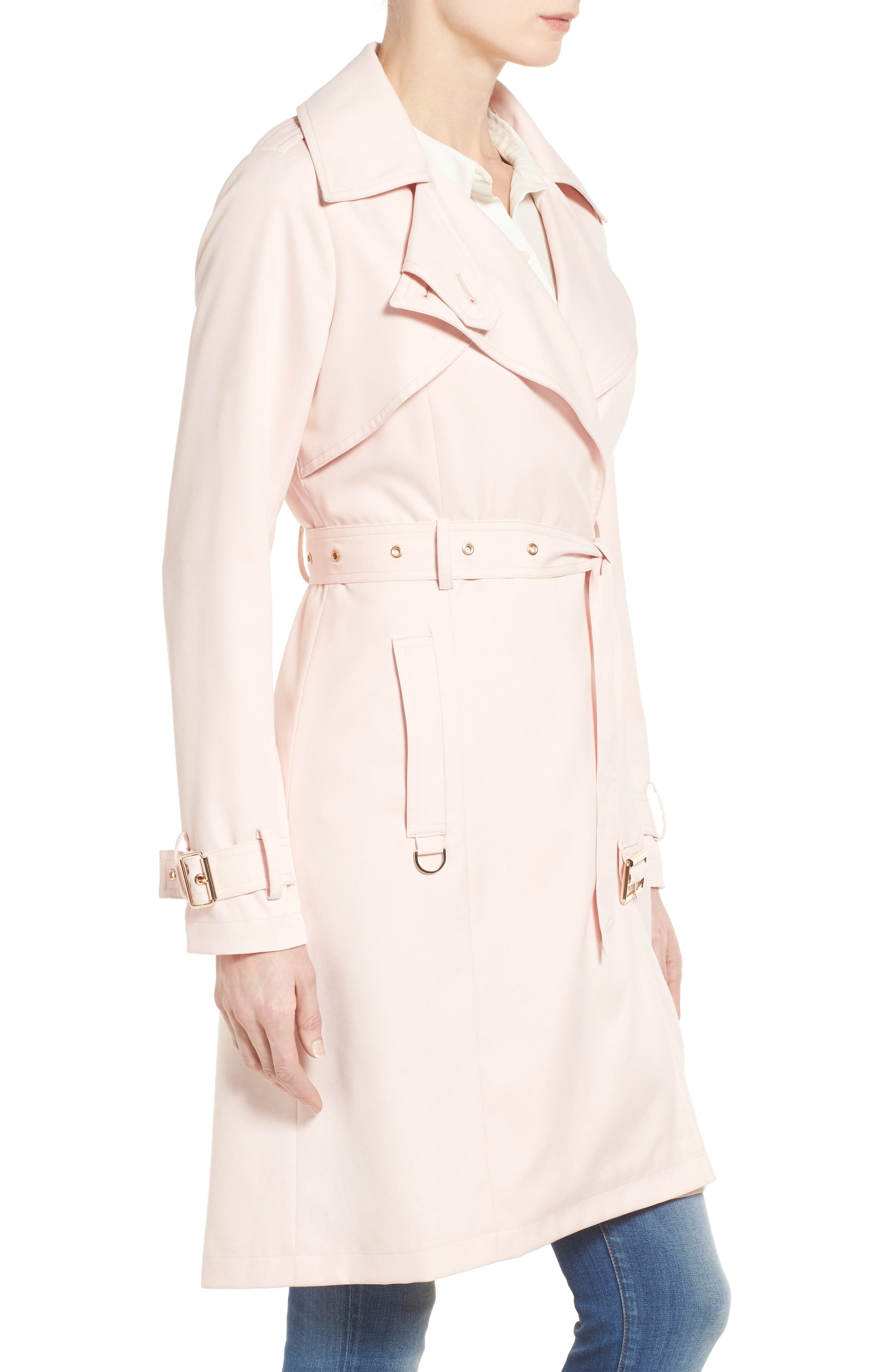 Flowy Belted Trench Coat,                             Alternate thumbnail 13, color,