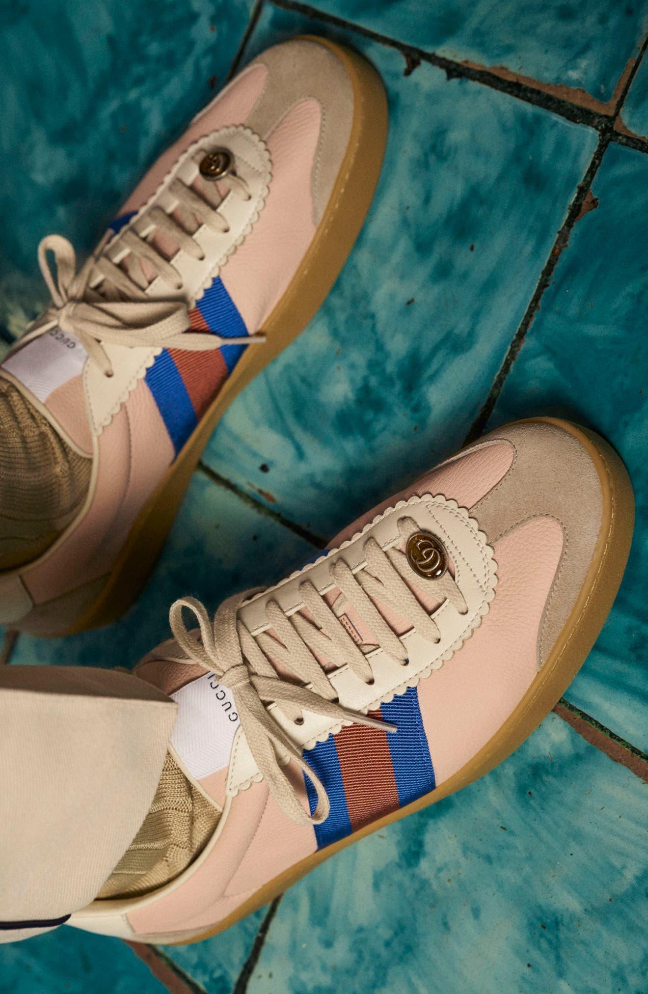 Web Sneaker,                             Alternate thumbnail 5, color,                             OATMEAL/ WHITE