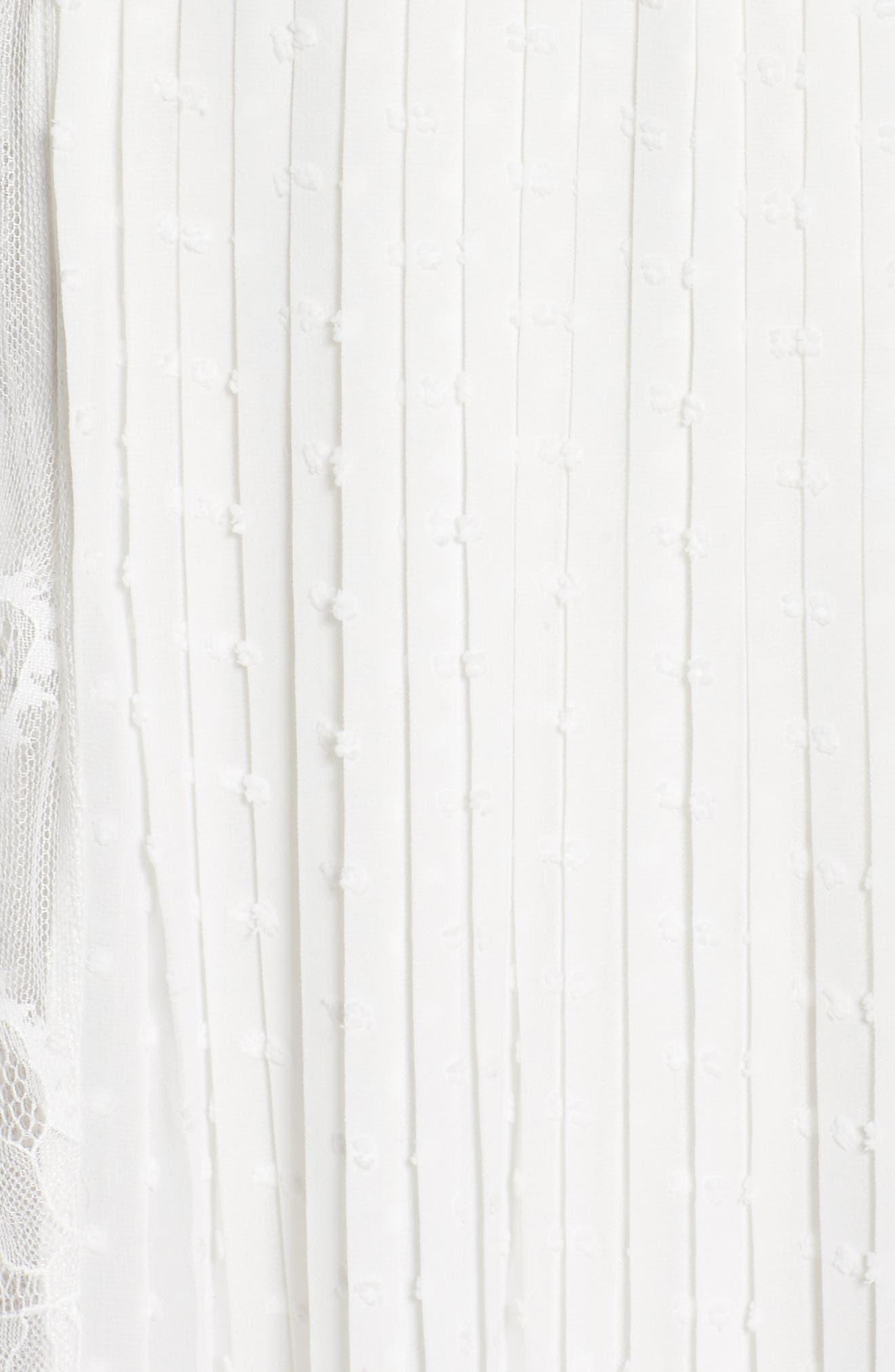 Babette Lace Inset Party Dress,                             Alternate thumbnail 5, color,                             100